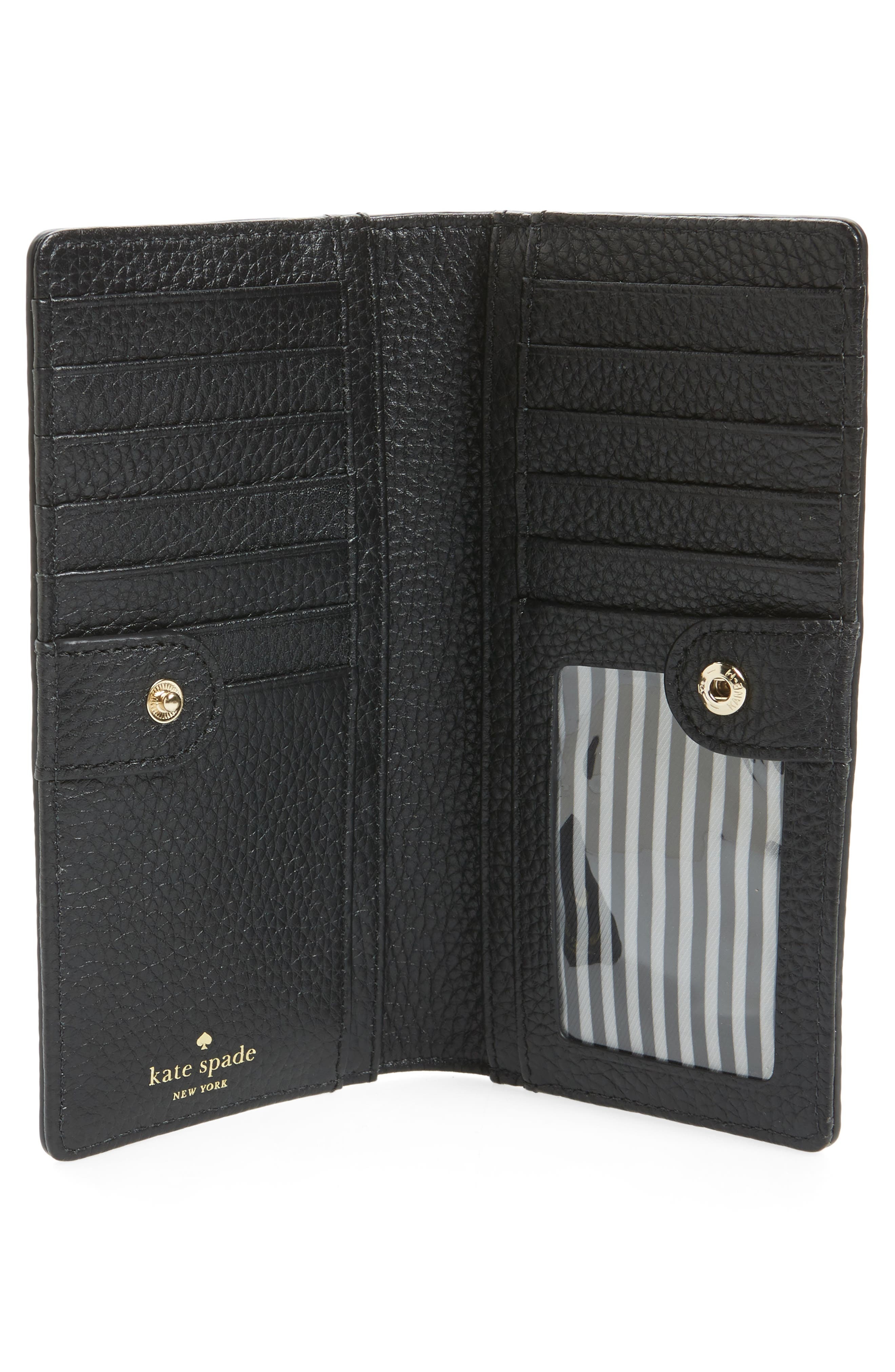 jackson street stacy leather wallet,                             Alternate thumbnail 2, color,                             Black