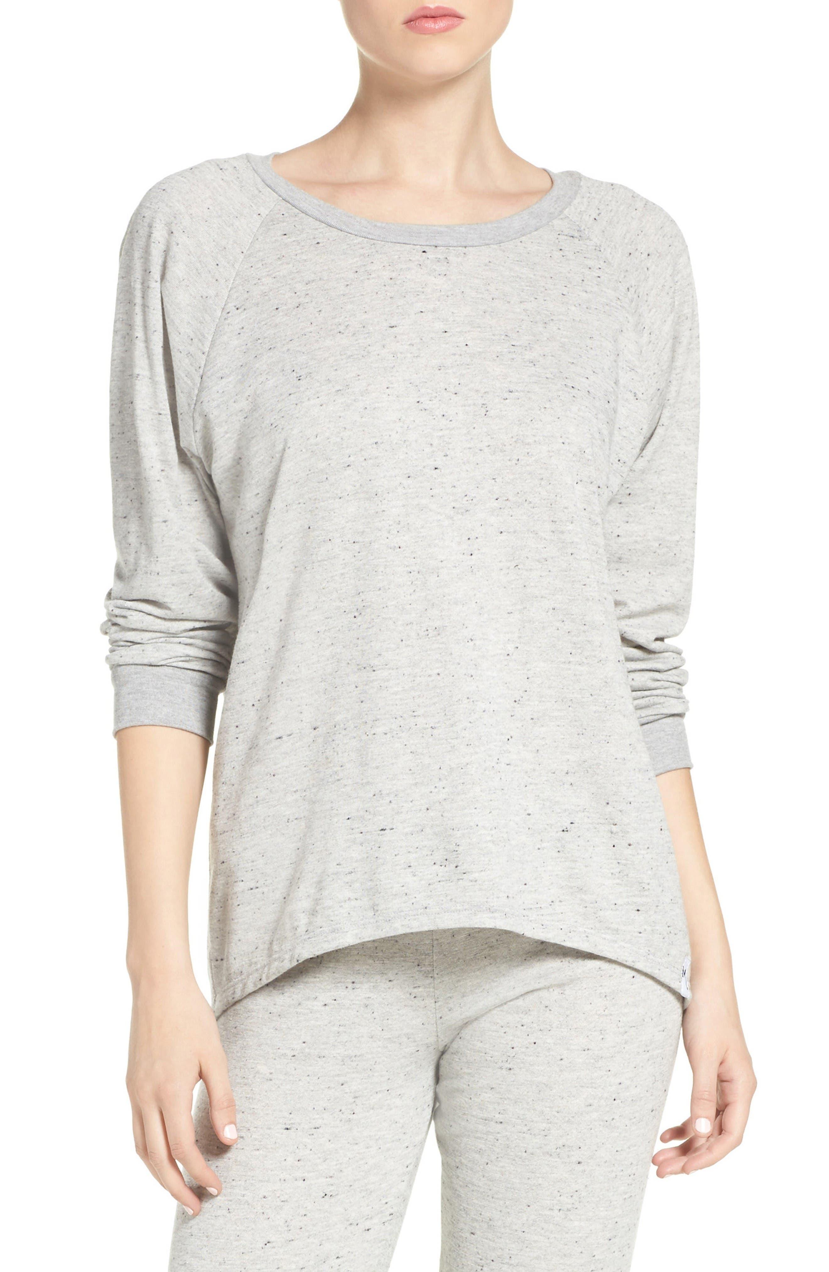 Zuma Lounge Sweatshirt,                         Main,                         color, Heather Grey