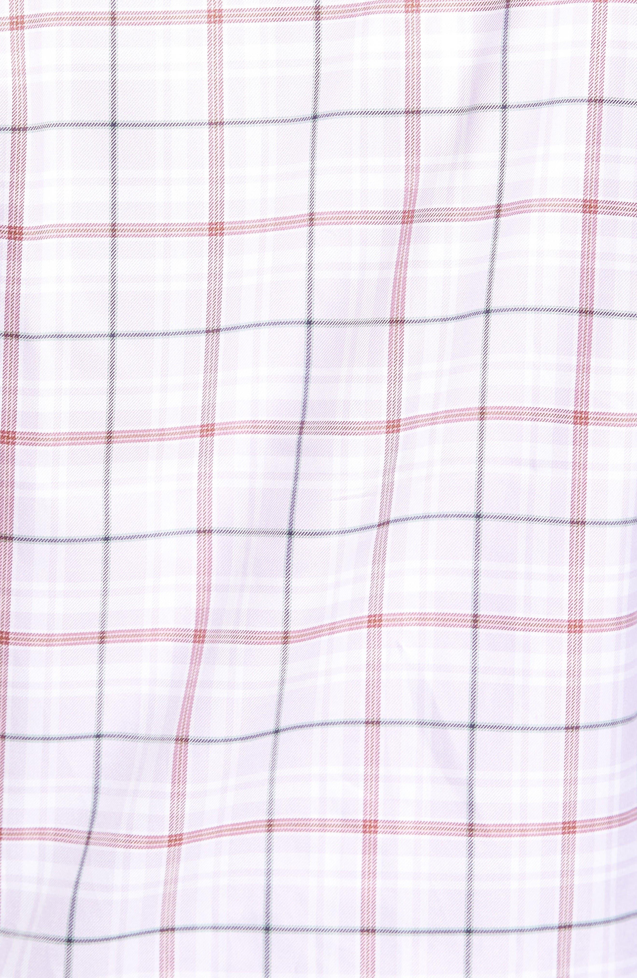 Crespi IV Tailored Fit Sport Shirt,                             Alternate thumbnail 5, color,                             Lavender
