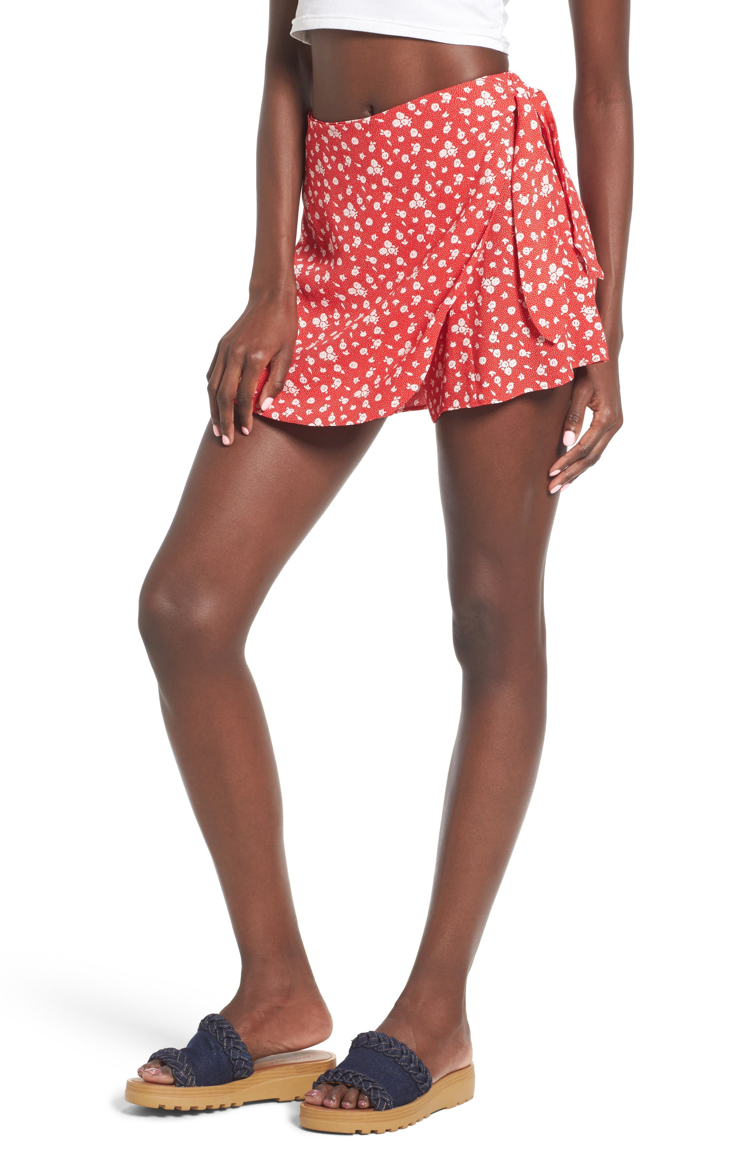 Alternate Image 1 Selected - Privacy Please Emory High Waist Wrap Skort