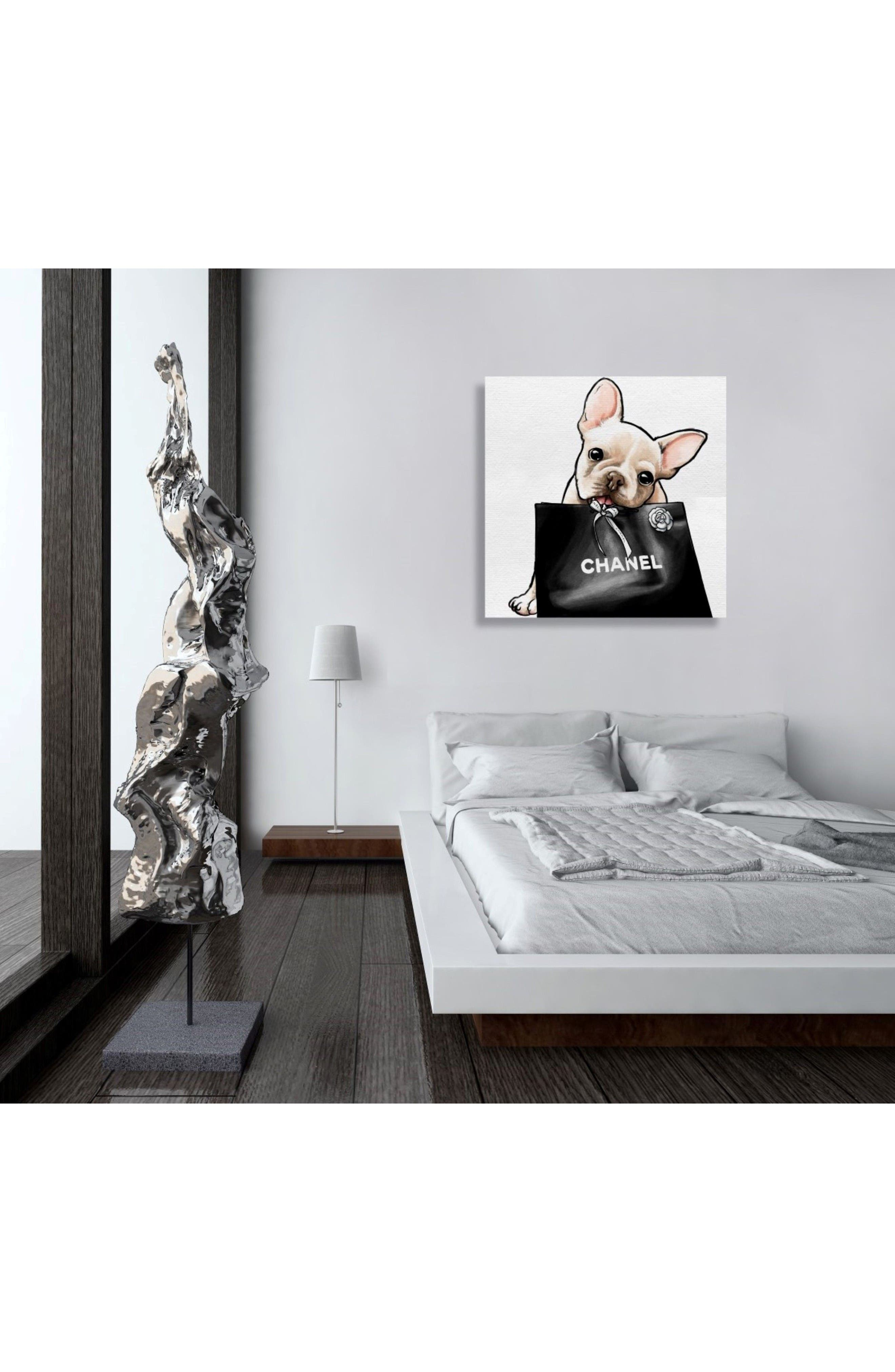 Alternate Image 2  - Oliver Gal Frenchie Glam Canvas Wall Art