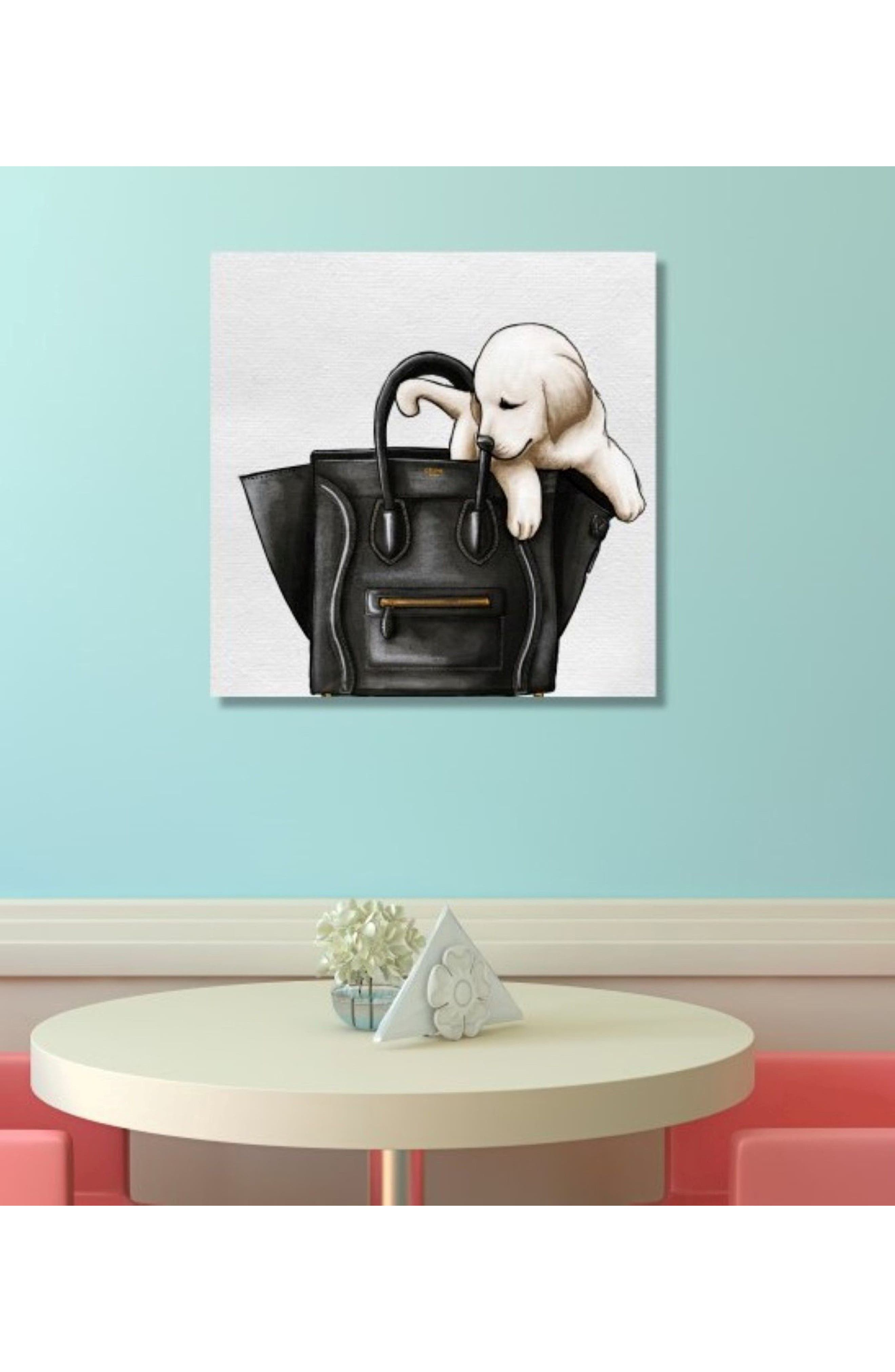 Sweetest Accessory Canvas Wall Art,                             Alternate thumbnail 2, color,                             White