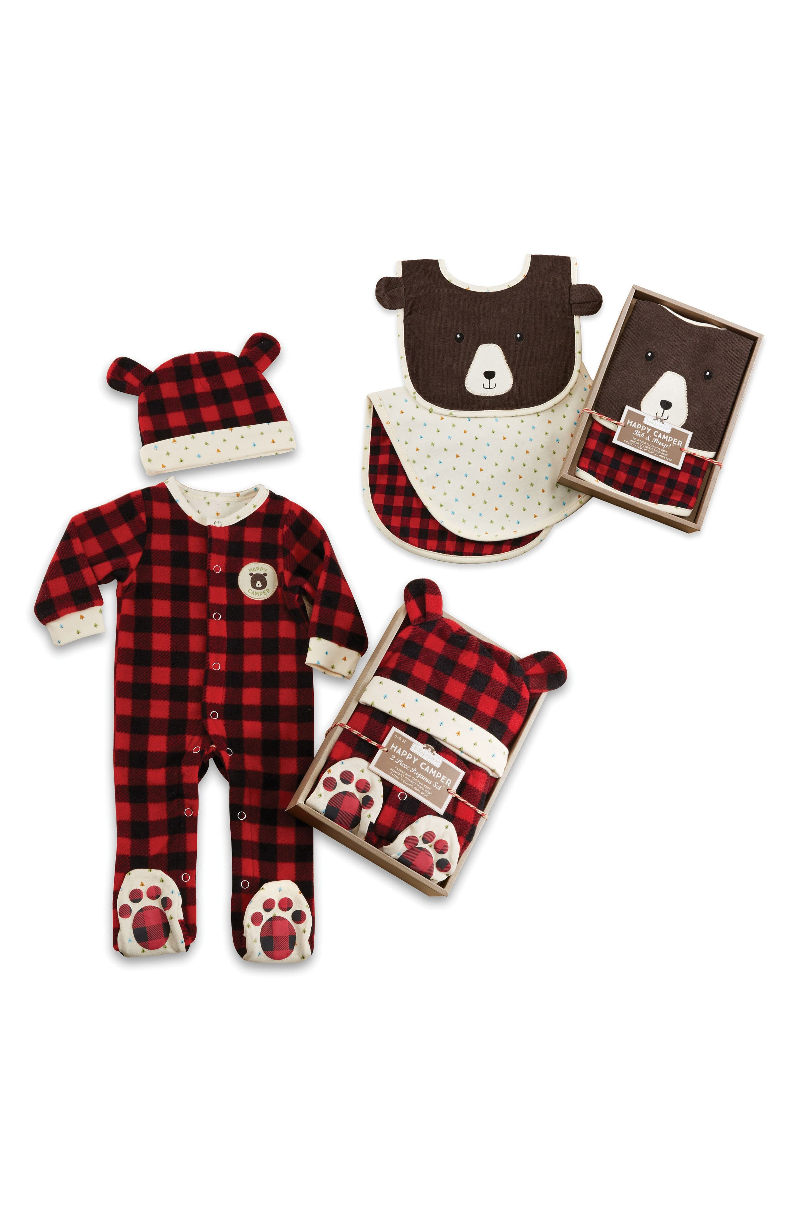 Baby Aspen Happy Camper Footie, Hat, Burp Cloth & Bib Set (Baby)
