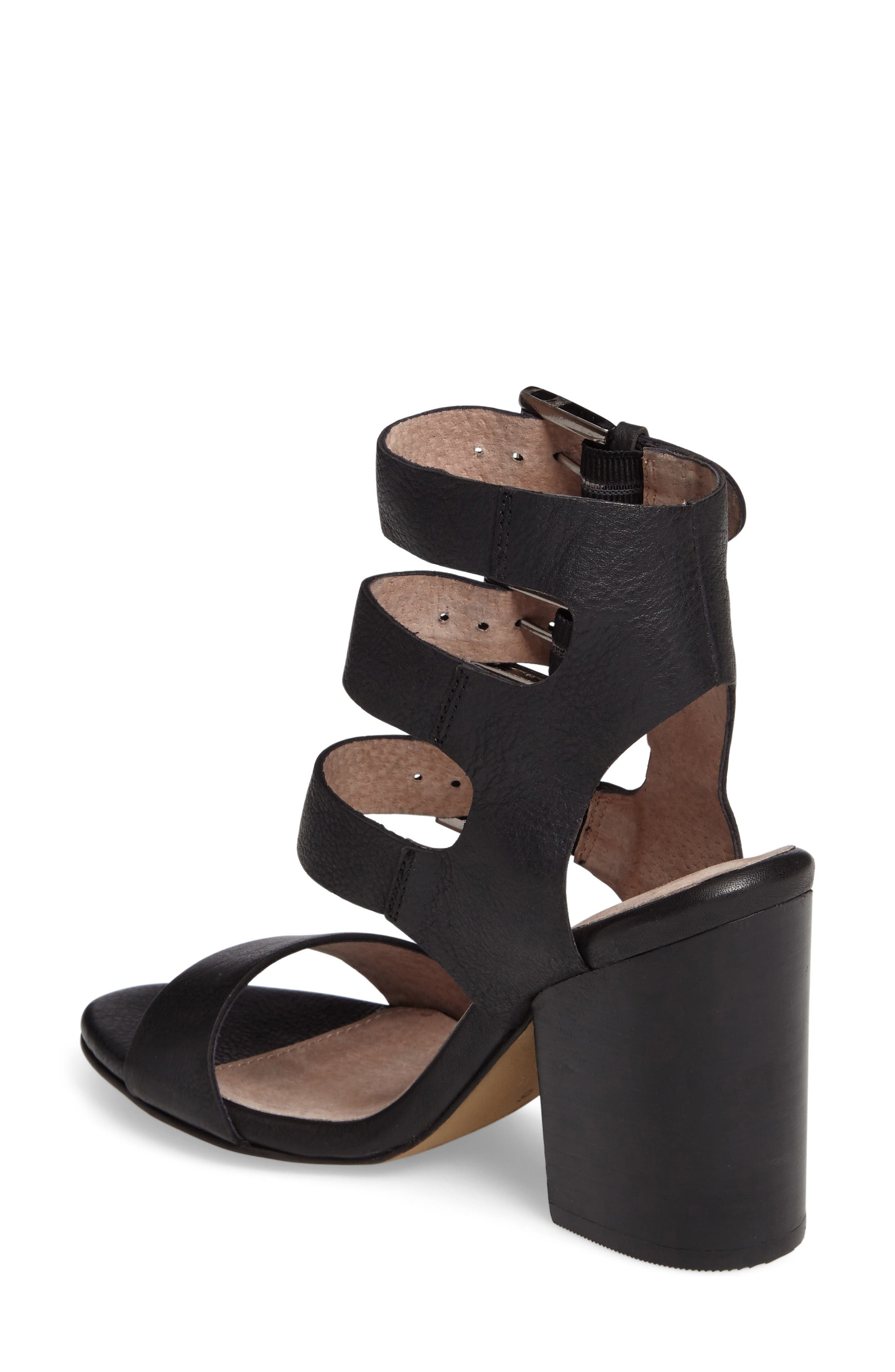 Dilly Dally Sandal,                             Alternate thumbnail 2, color,                             Black Leather