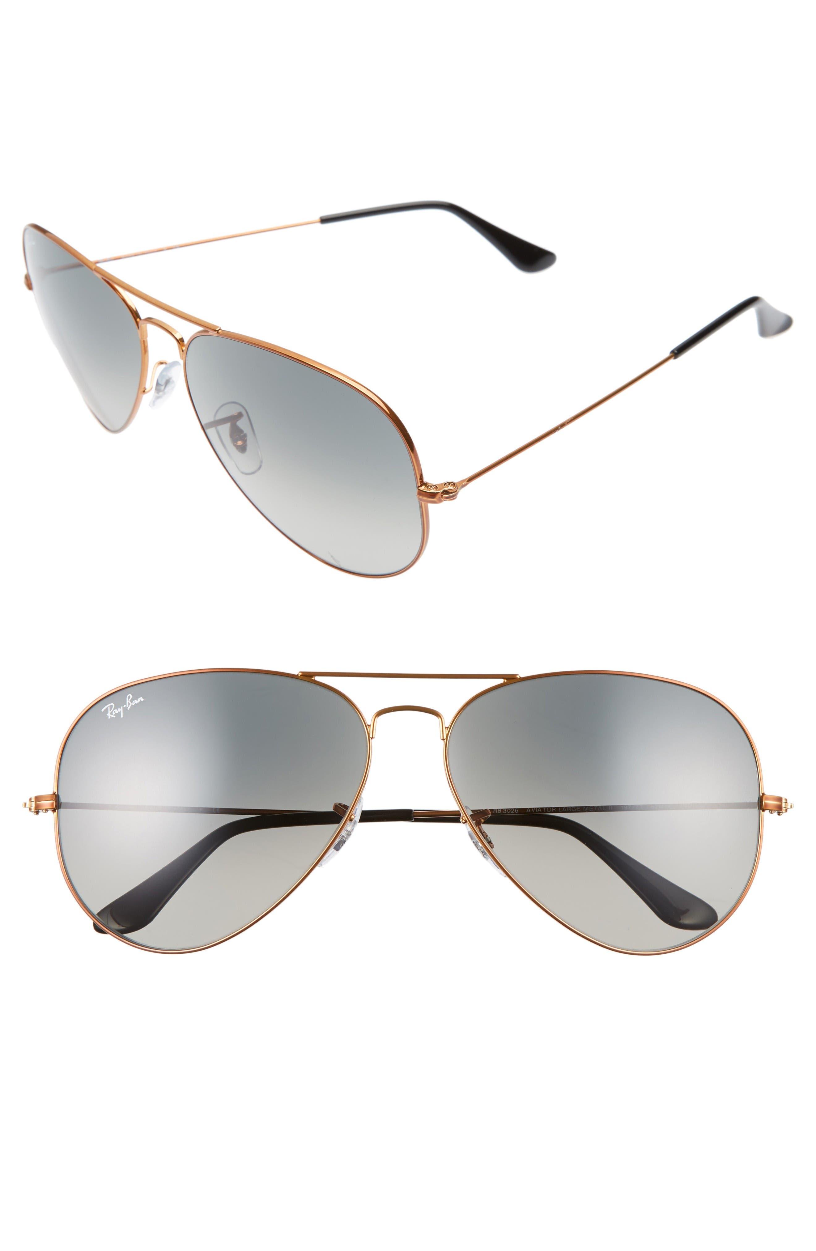 62mm Sunglasses,                         Main,                         color, Bronze