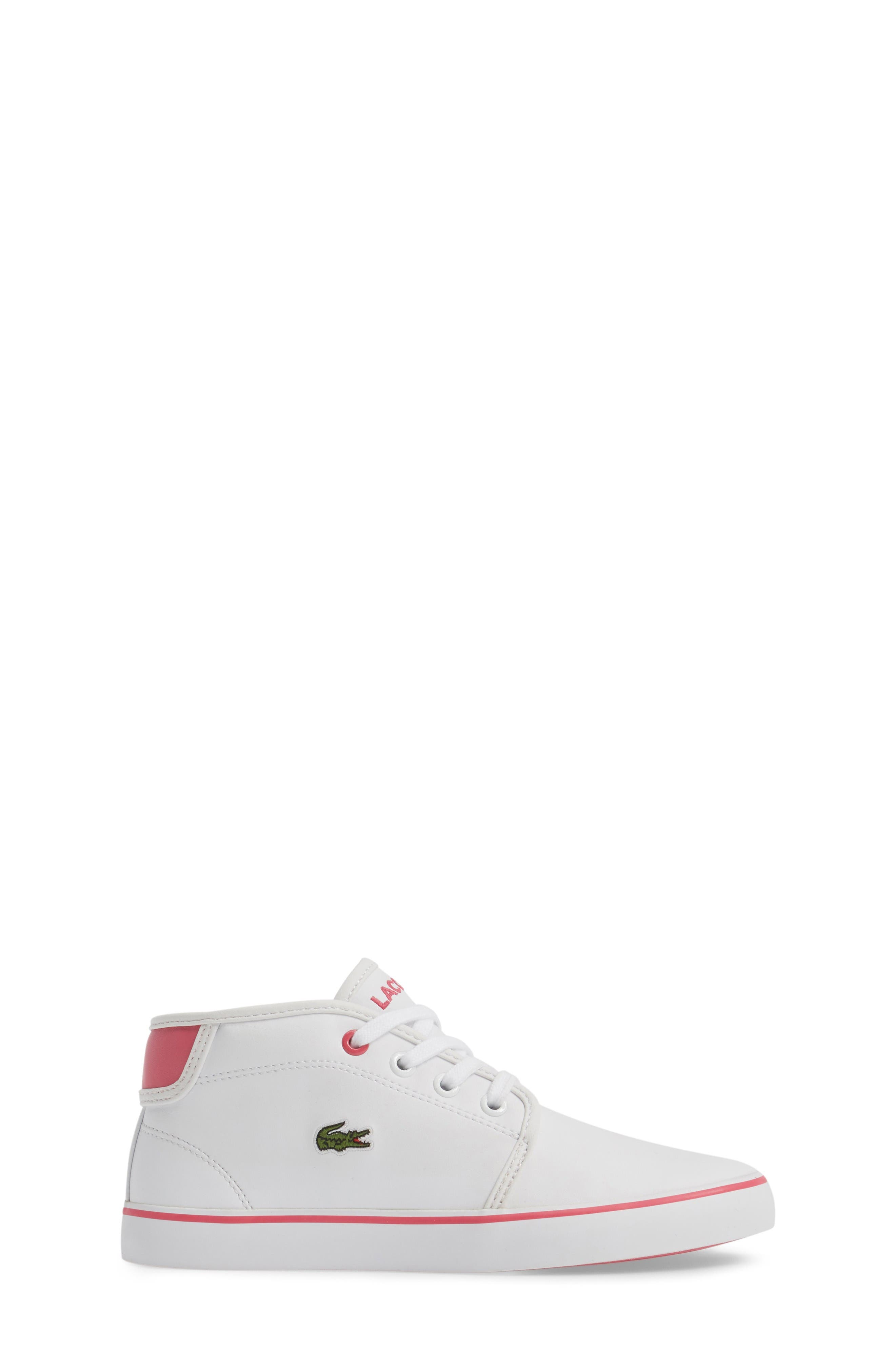 Ampthill Mid-Top Sneaker,                             Alternate thumbnail 3, color,                             White/ Pink