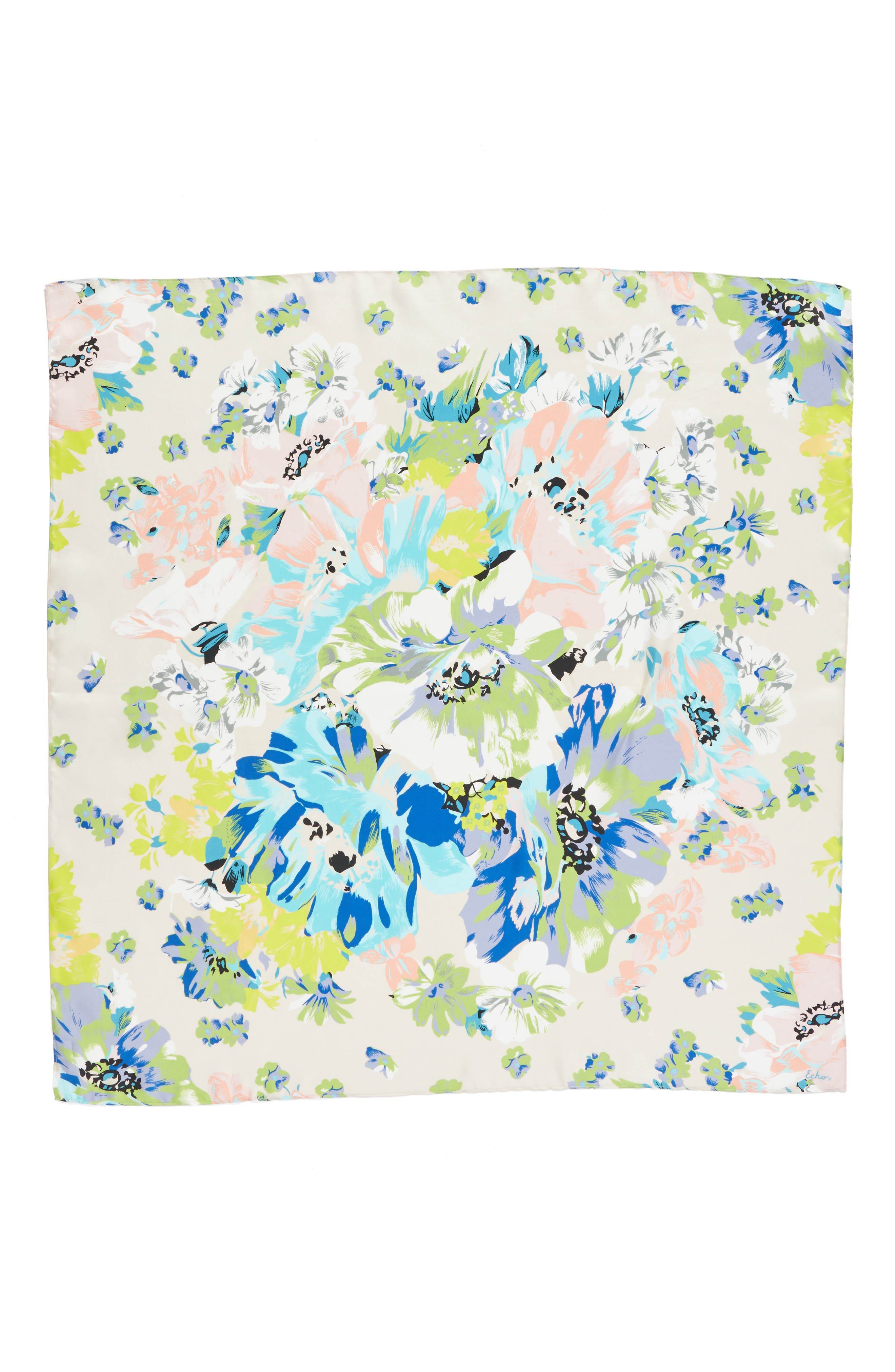 Alternate Image 2  - Echo Floral Silk Square Scarf