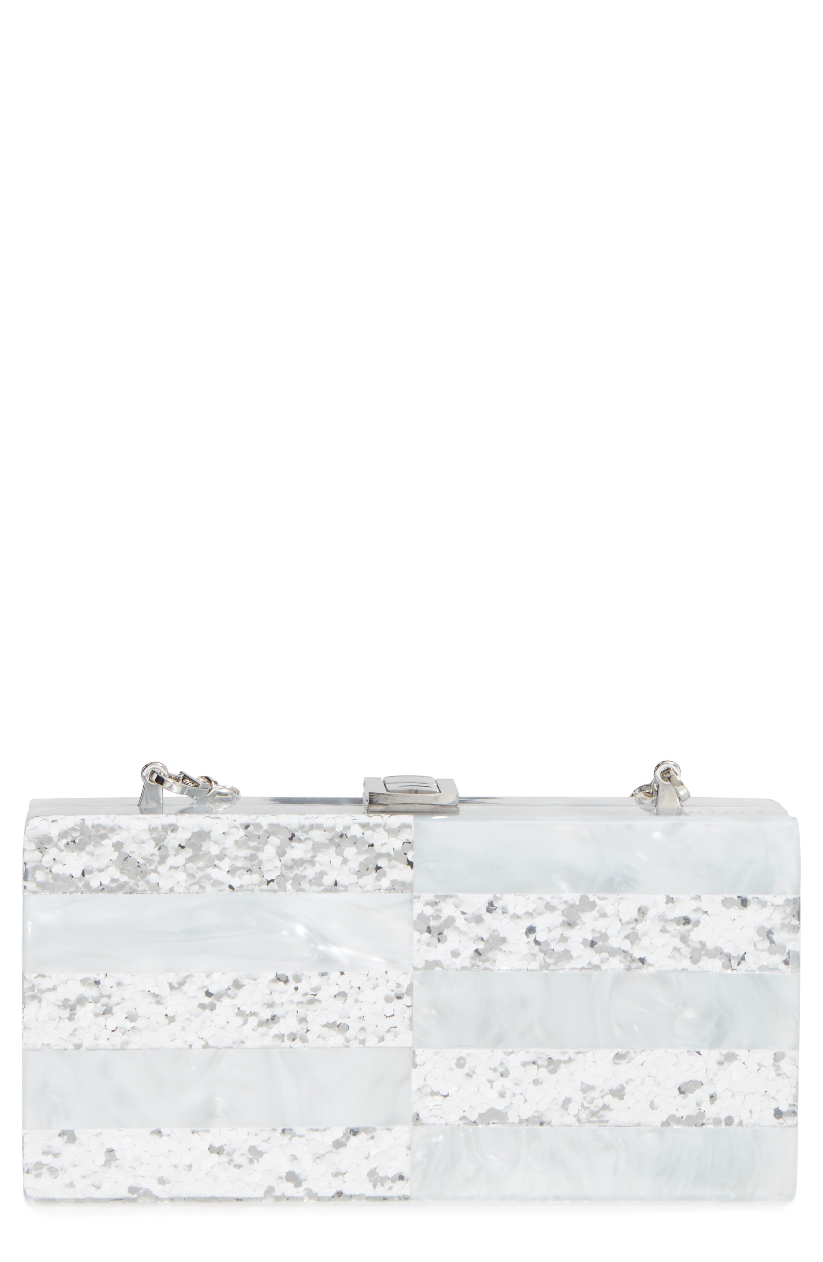 Main Image - Milly Acrylic & Glitter Box Clutch