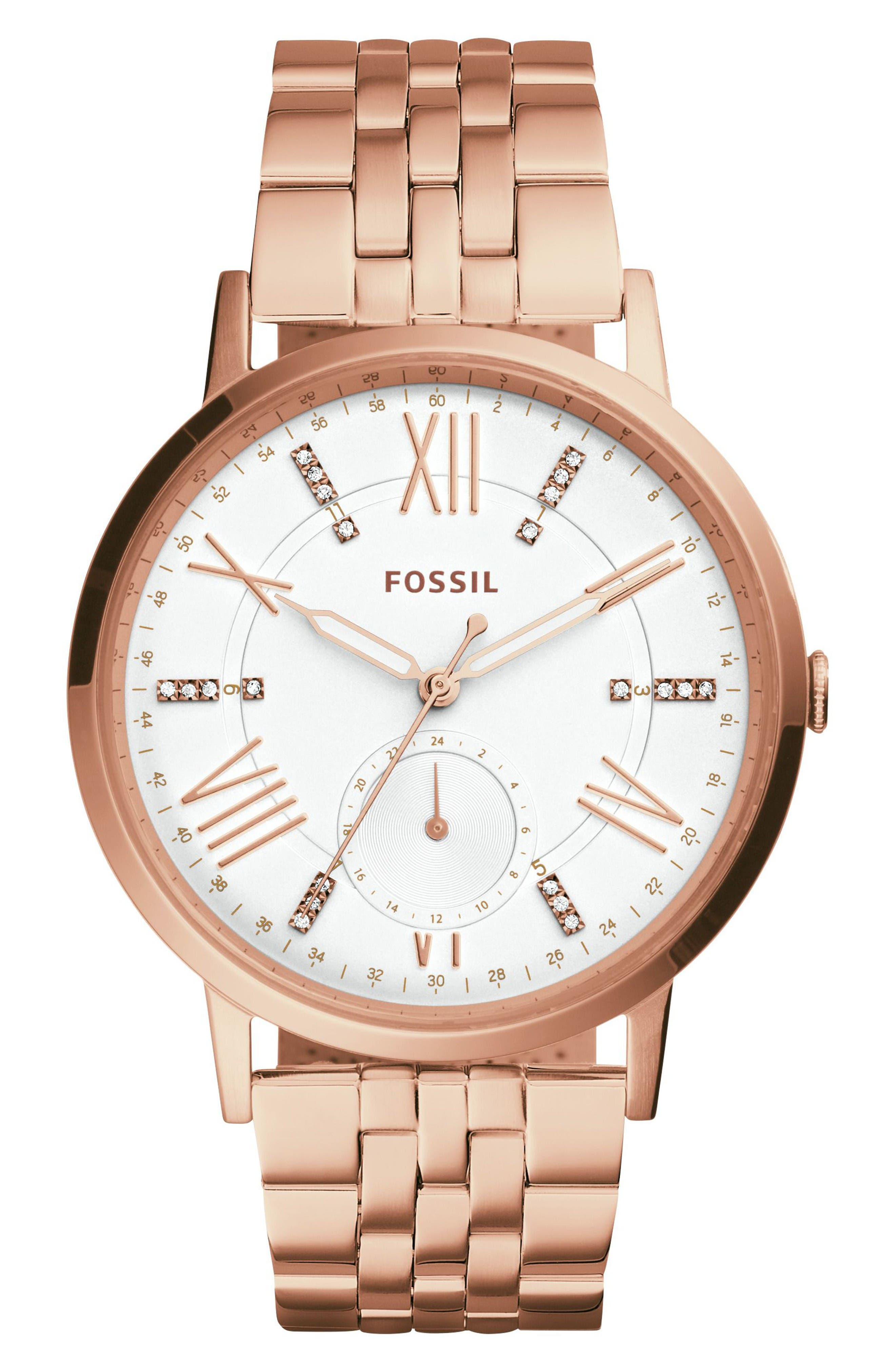 Main Image - Fossil Gazer Multifunction Bracelet Watch, 41mm