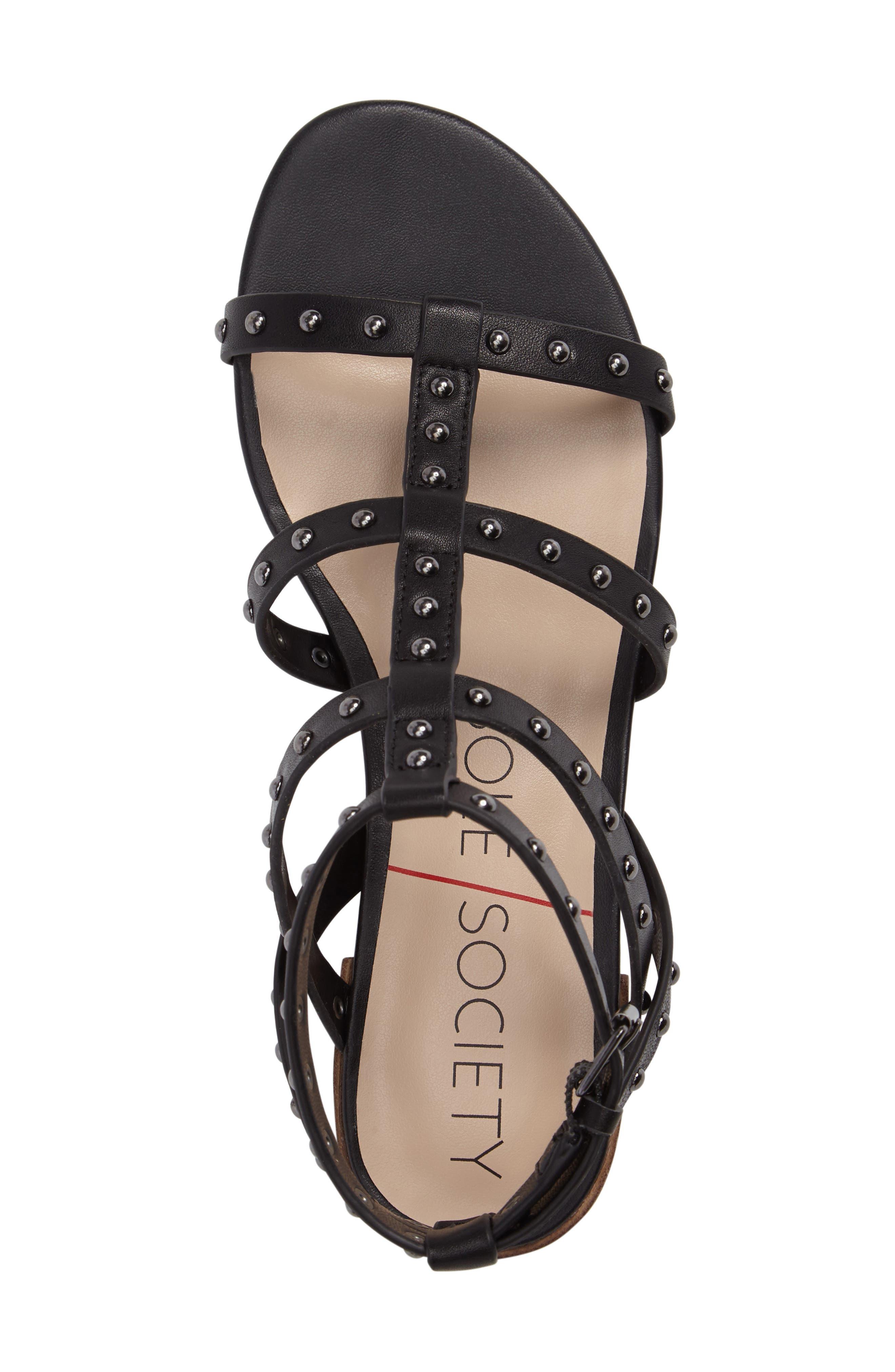 Celine Sandal,                             Alternate thumbnail 5, color,                             Black Leather