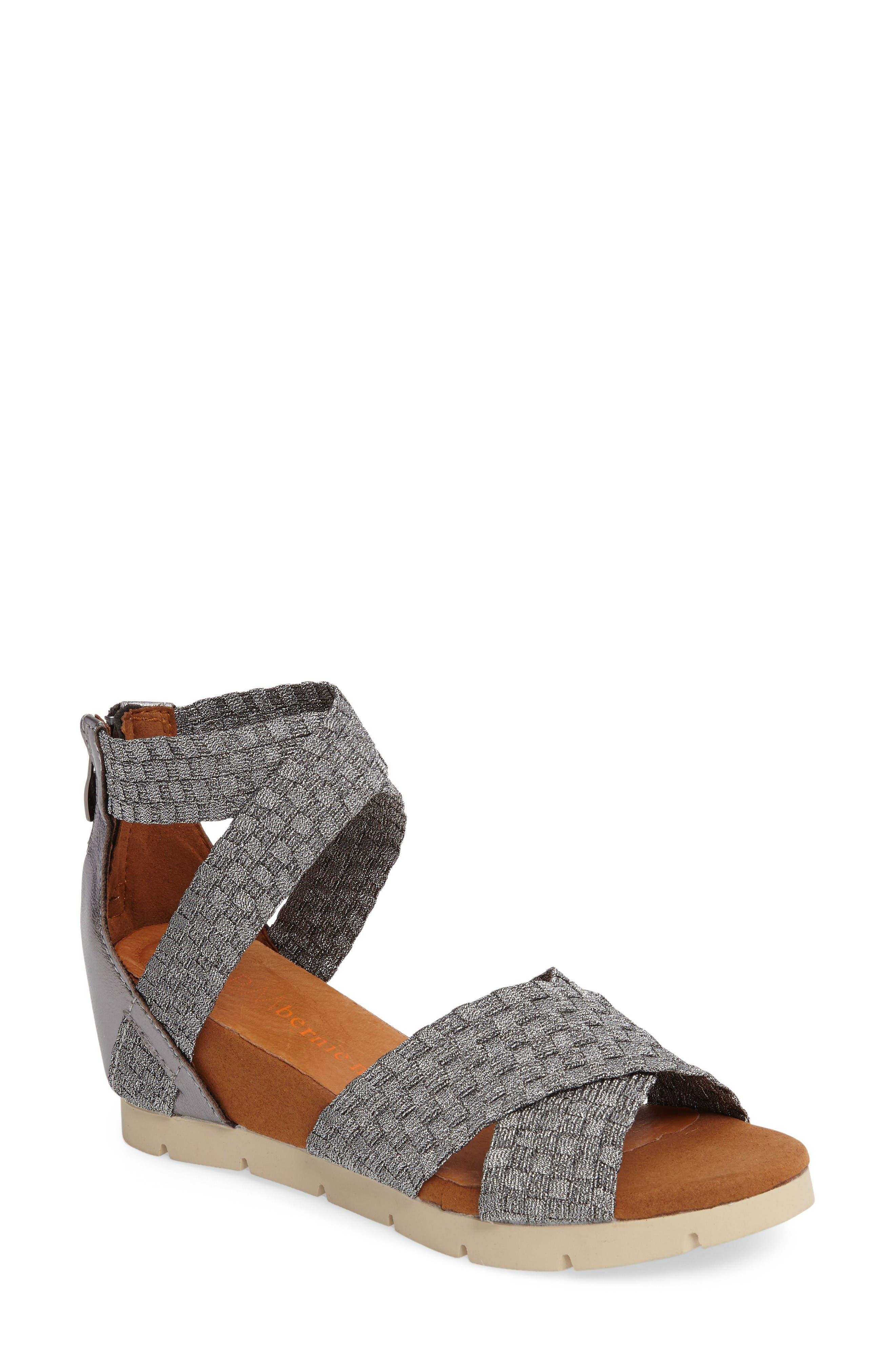 Honesty Sandal,                         Main,                         color, Pewter Fabric