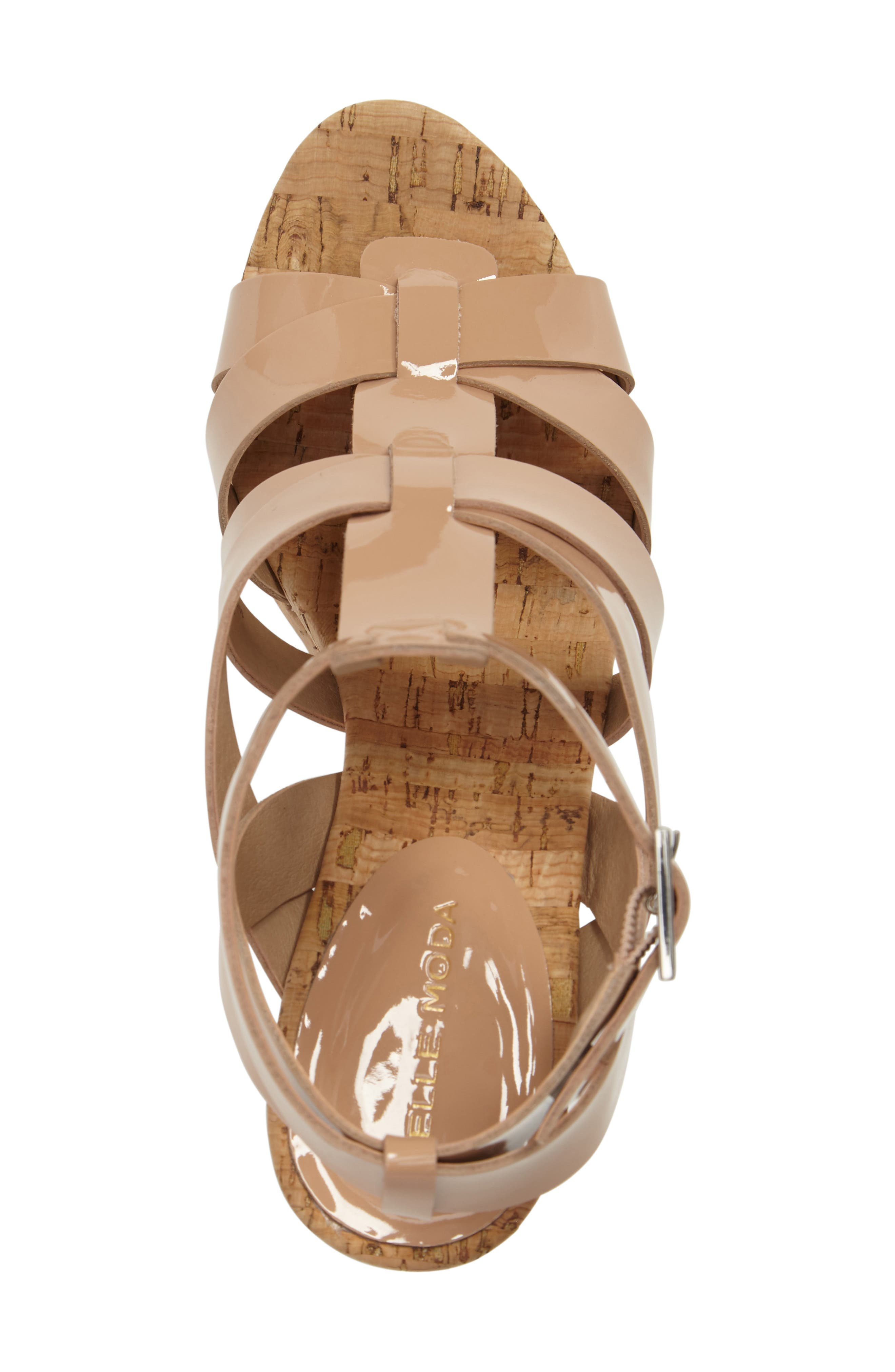 Rayjay Wedge Sandal,                             Alternate thumbnail 5, color,                             Blush Leather