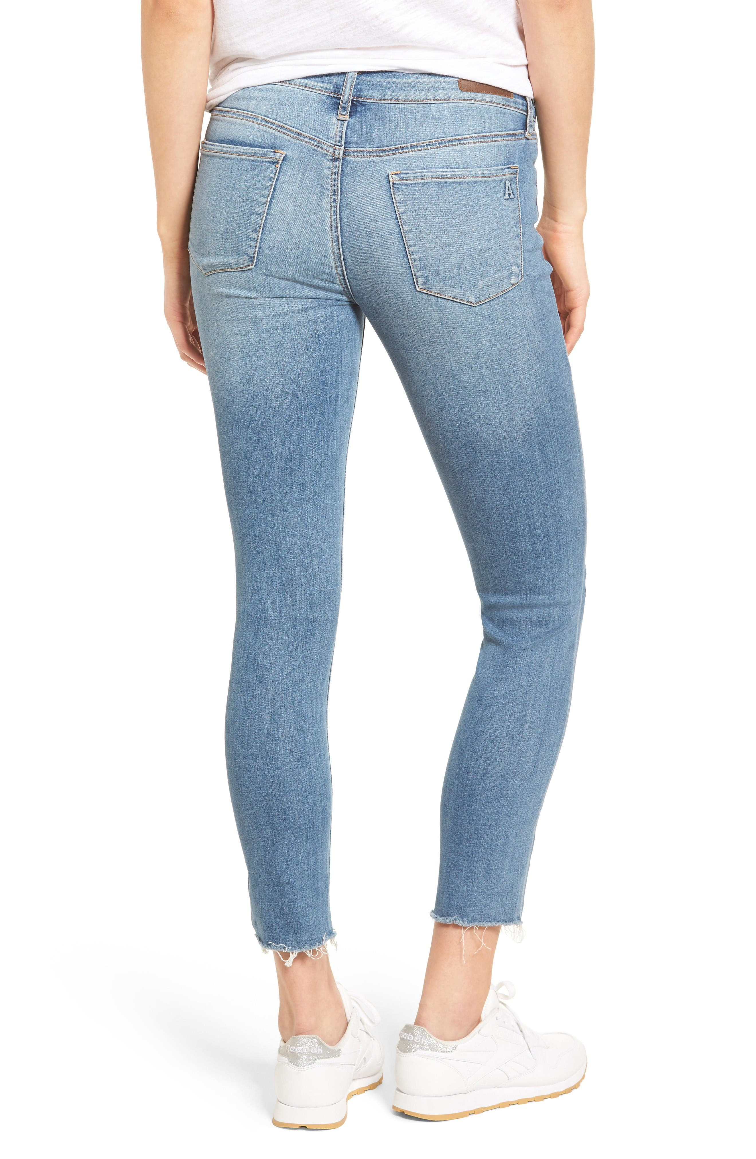 Alternate Image 2  - Articles of Society Carly Skinny Crop Jeans (Derby)