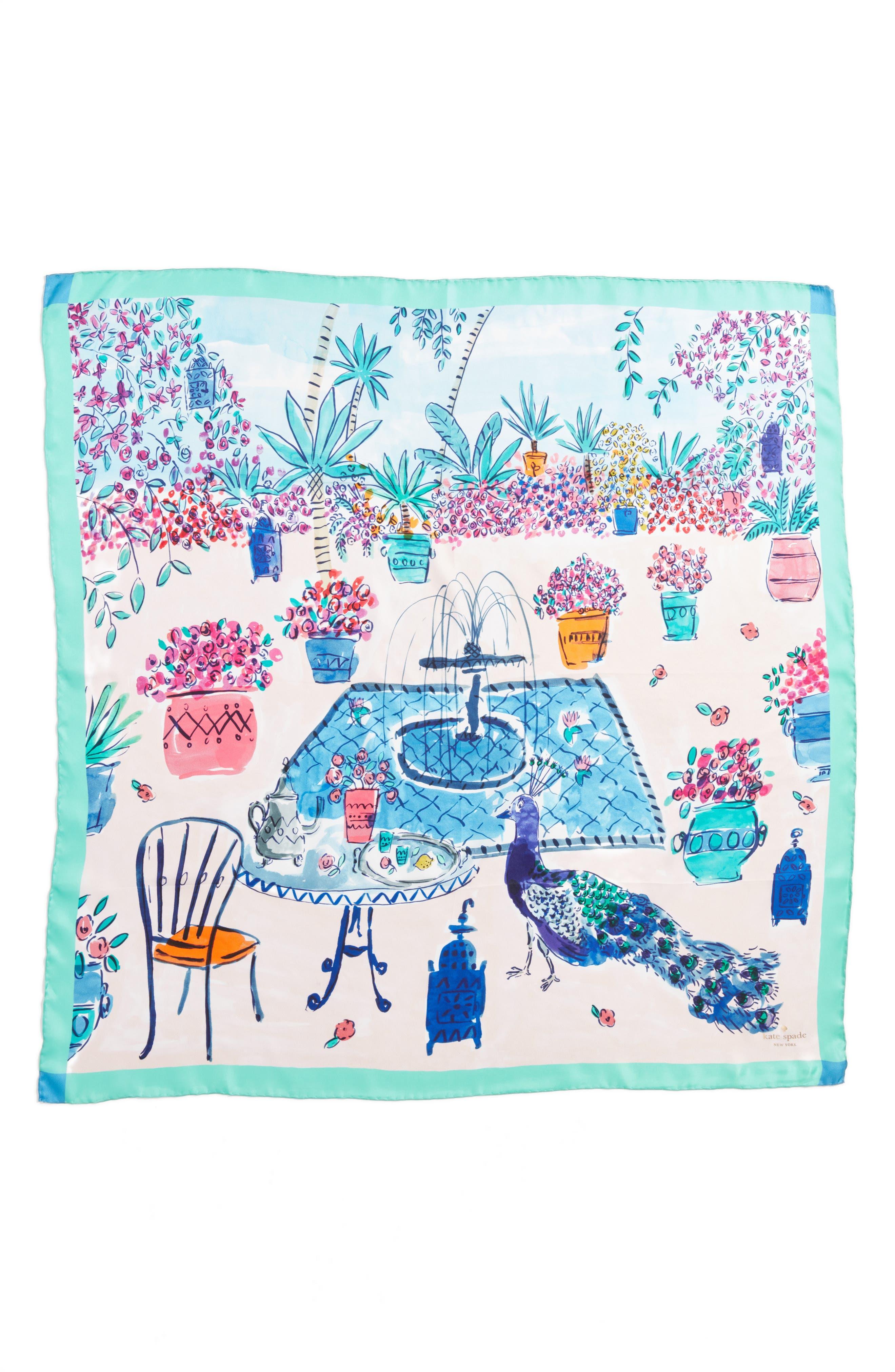Alternate Image 2  - kate spade new york majorelle scene silk square scarf