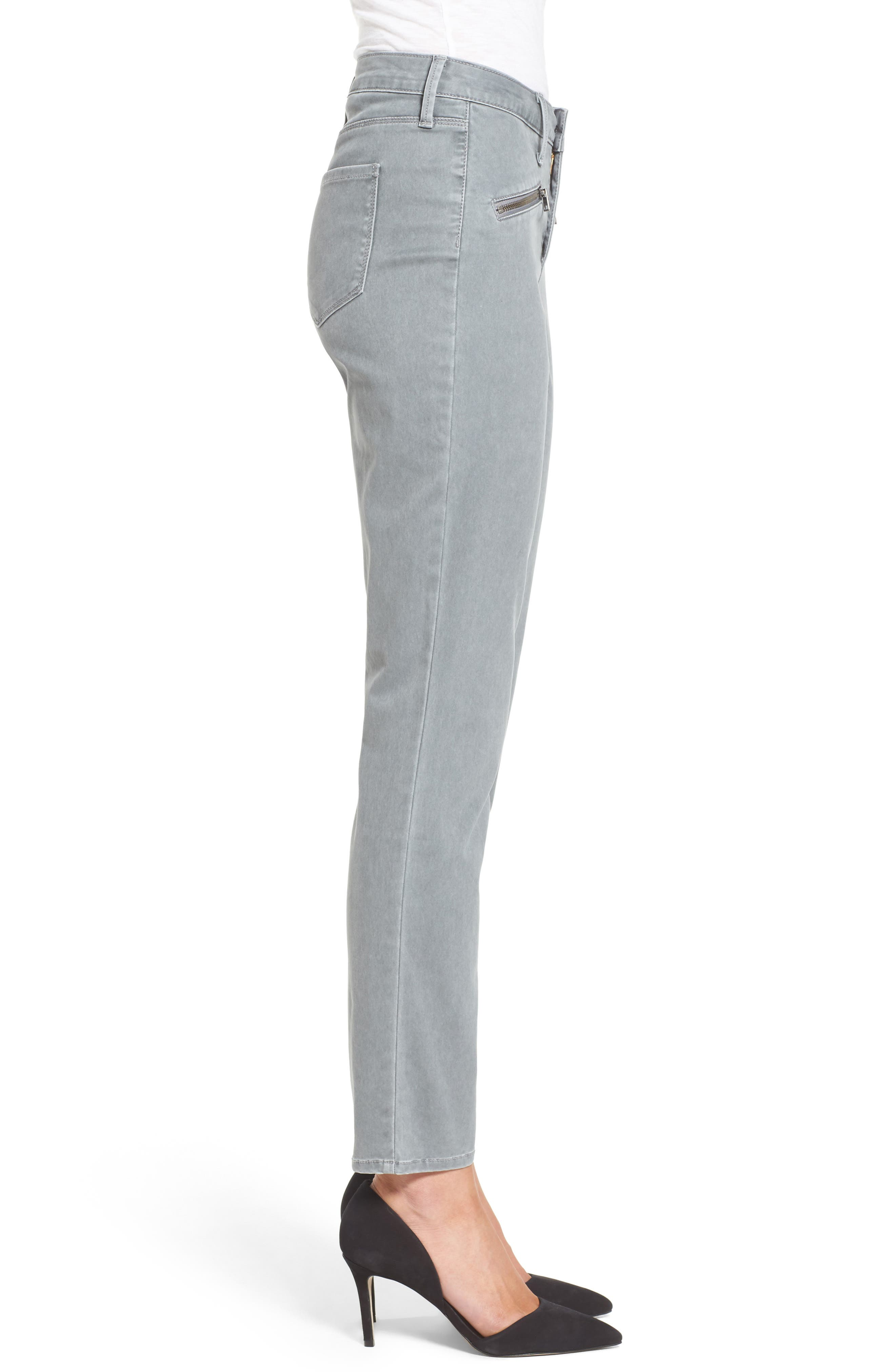 Alternate Image 3  - NYDJ Zip Pocket Skinny Chinos
