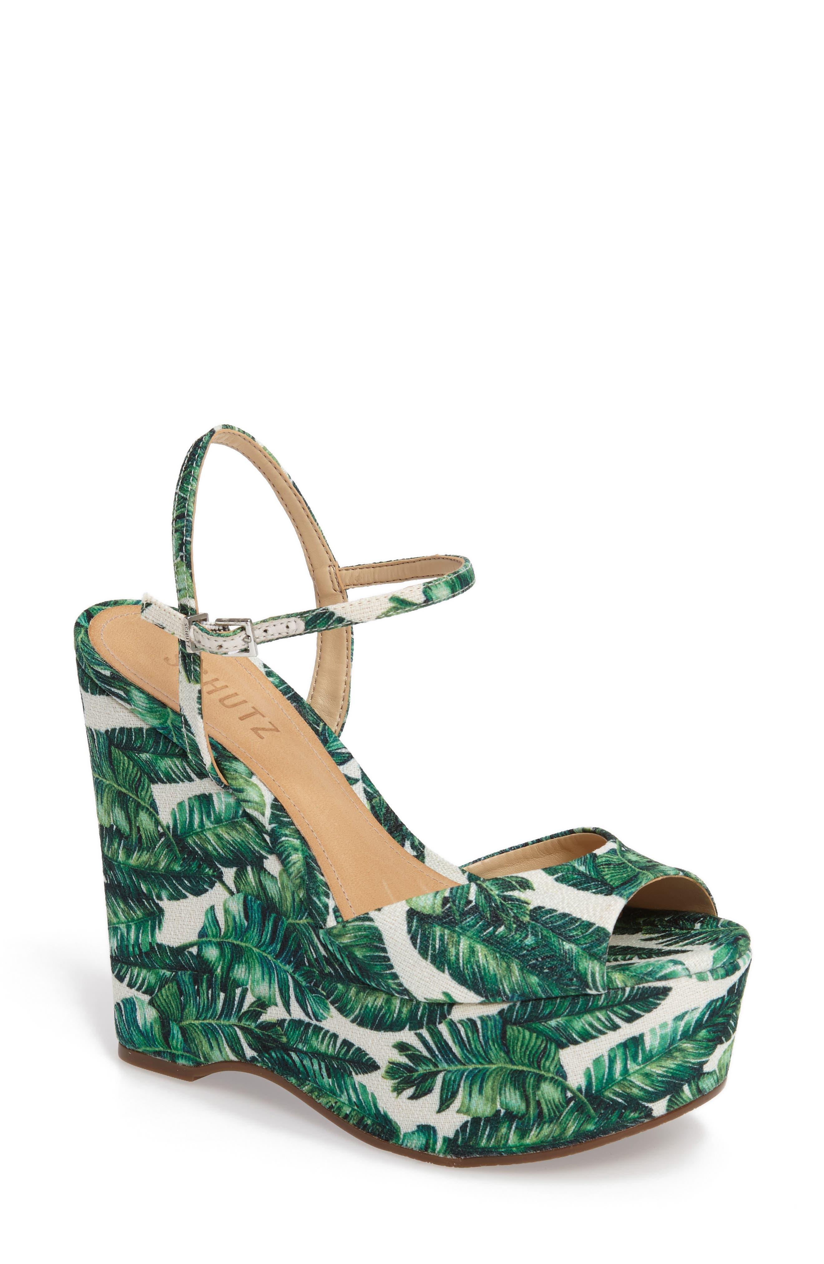 Alternate Image 1 Selected - Schutz Patrycia Wedge Sandal (Women)