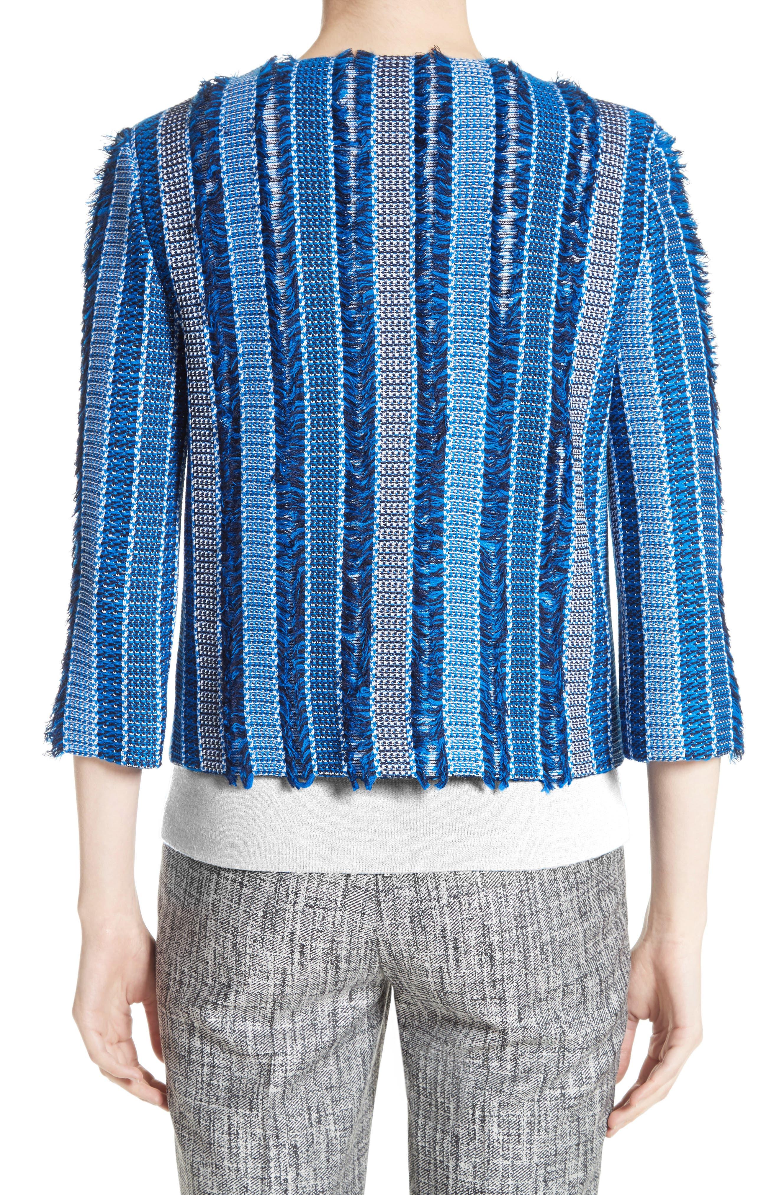 Damik Fil Coupé Knit Jacket,                             Alternate thumbnail 2, color,                             Jaya Blue Multi