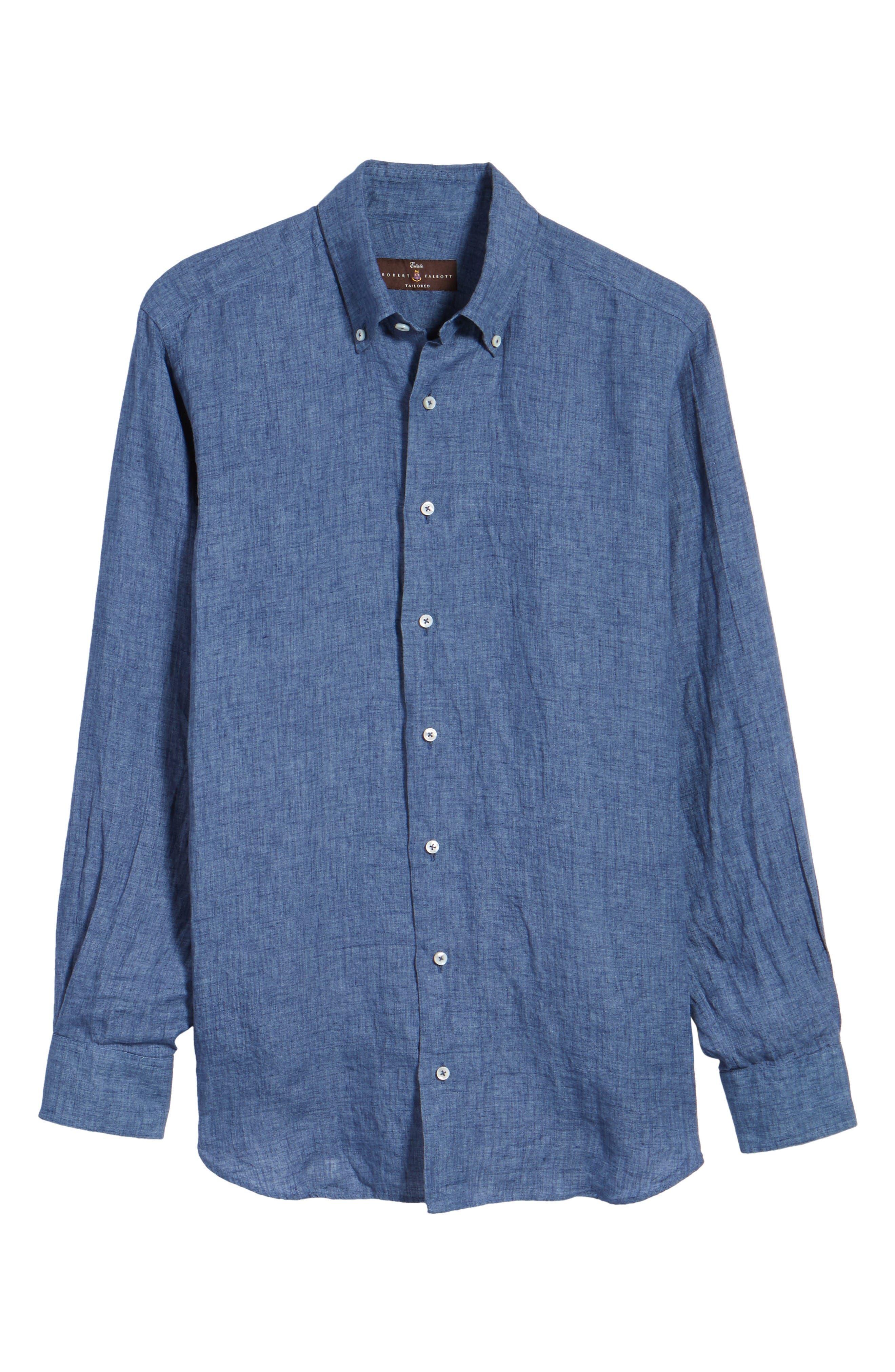 Estate Tailored Fit Sport Shirt,                             Alternate thumbnail 6, color,                             Denim