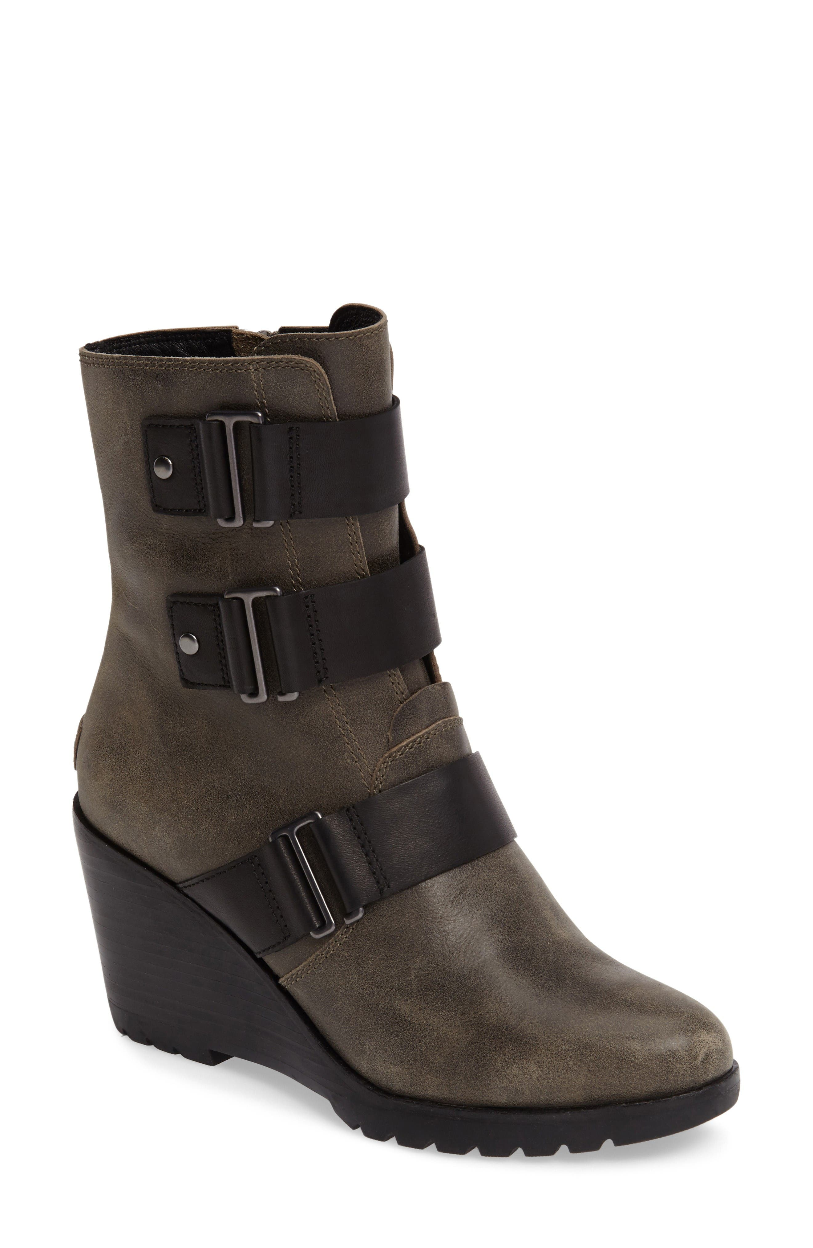 After Hours Waterproof Bootie,                         Main,                         color, Kettle/ Black
