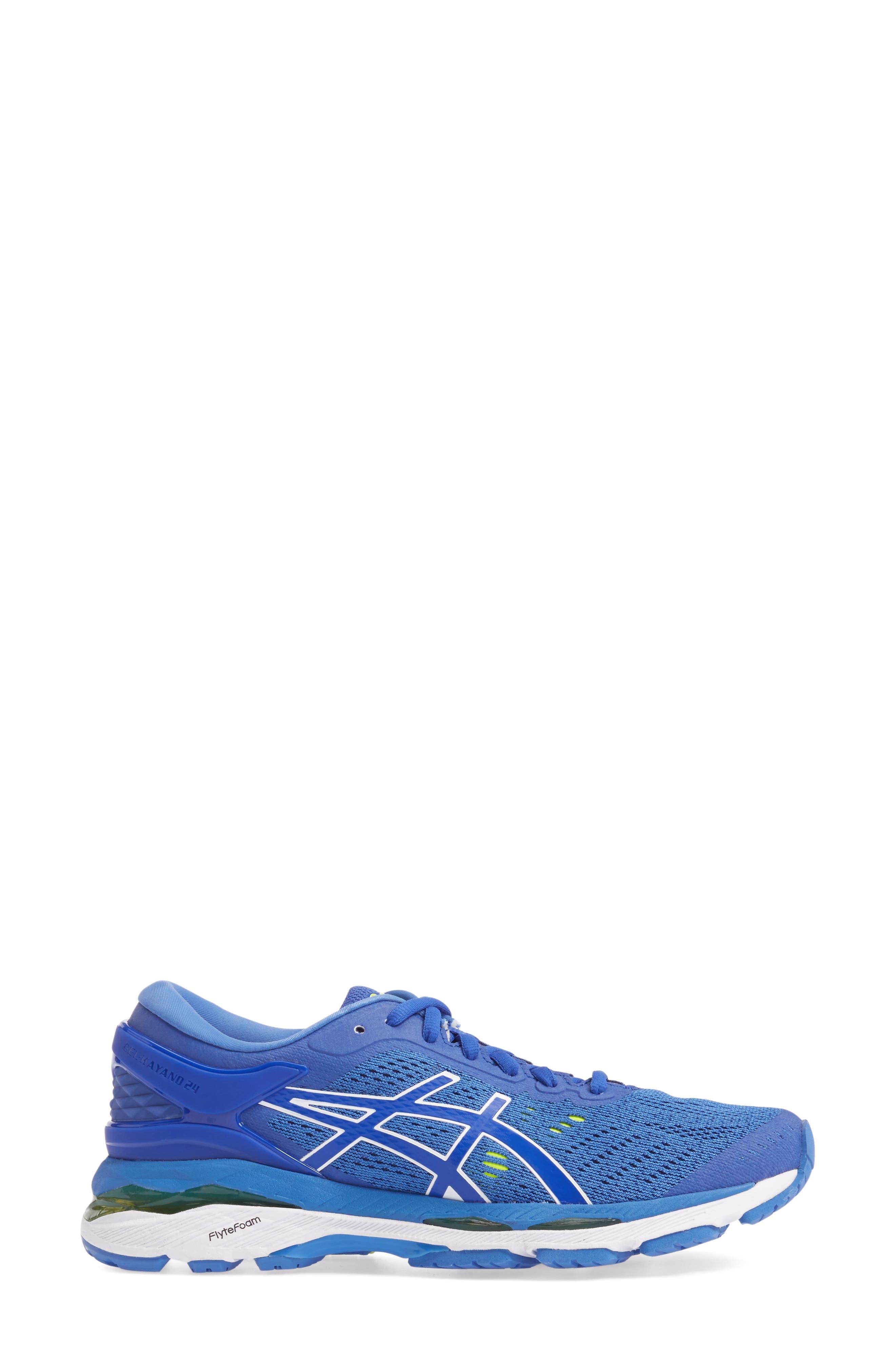 GEL-Kayano<sup>®</sup> 24 Running Shoe,                             Alternate thumbnail 3, color,                             Blue Purple/ Regatta/ White