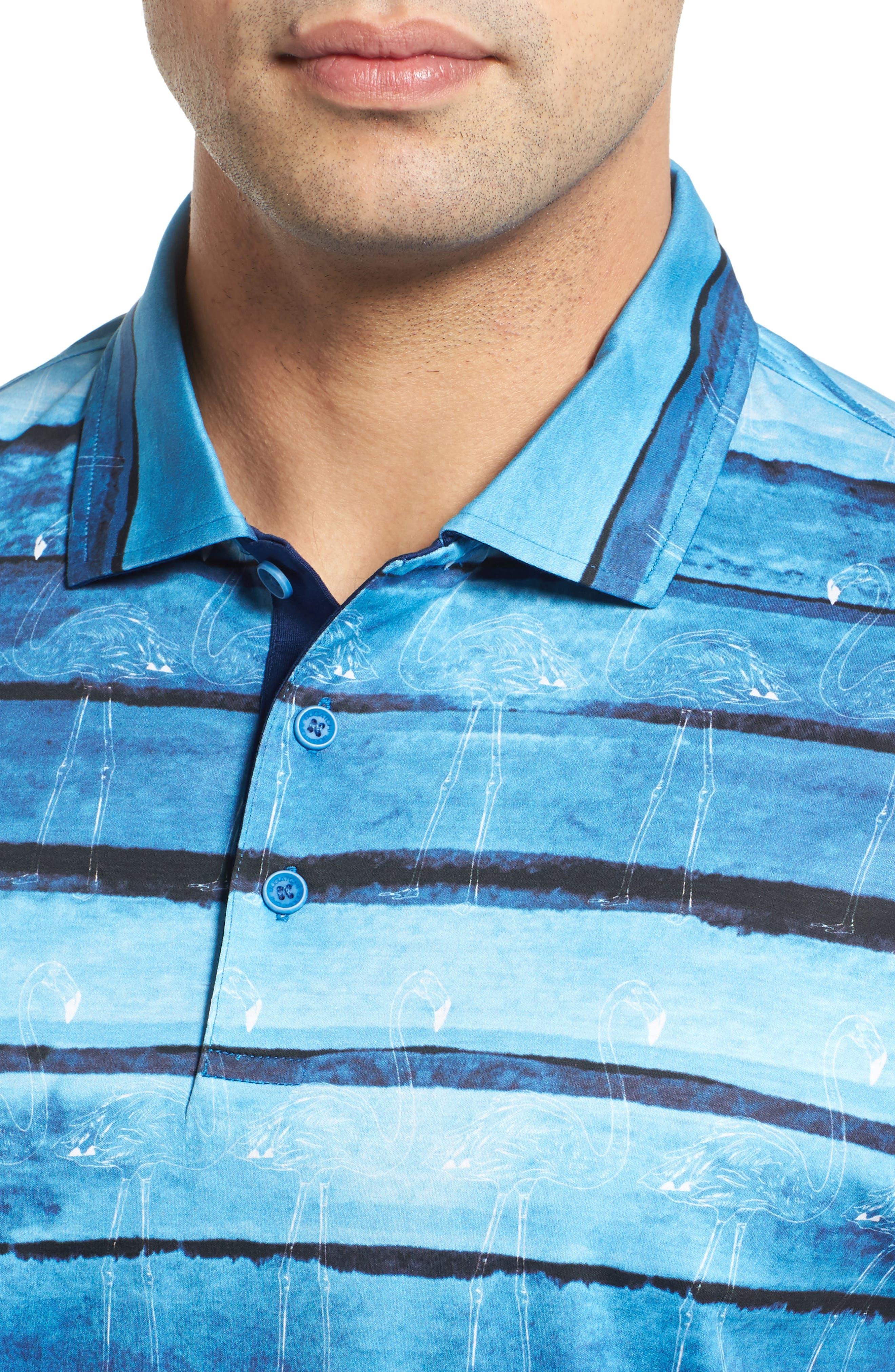 Alternate Image 4  - Bugatchi Print Jersey Polo