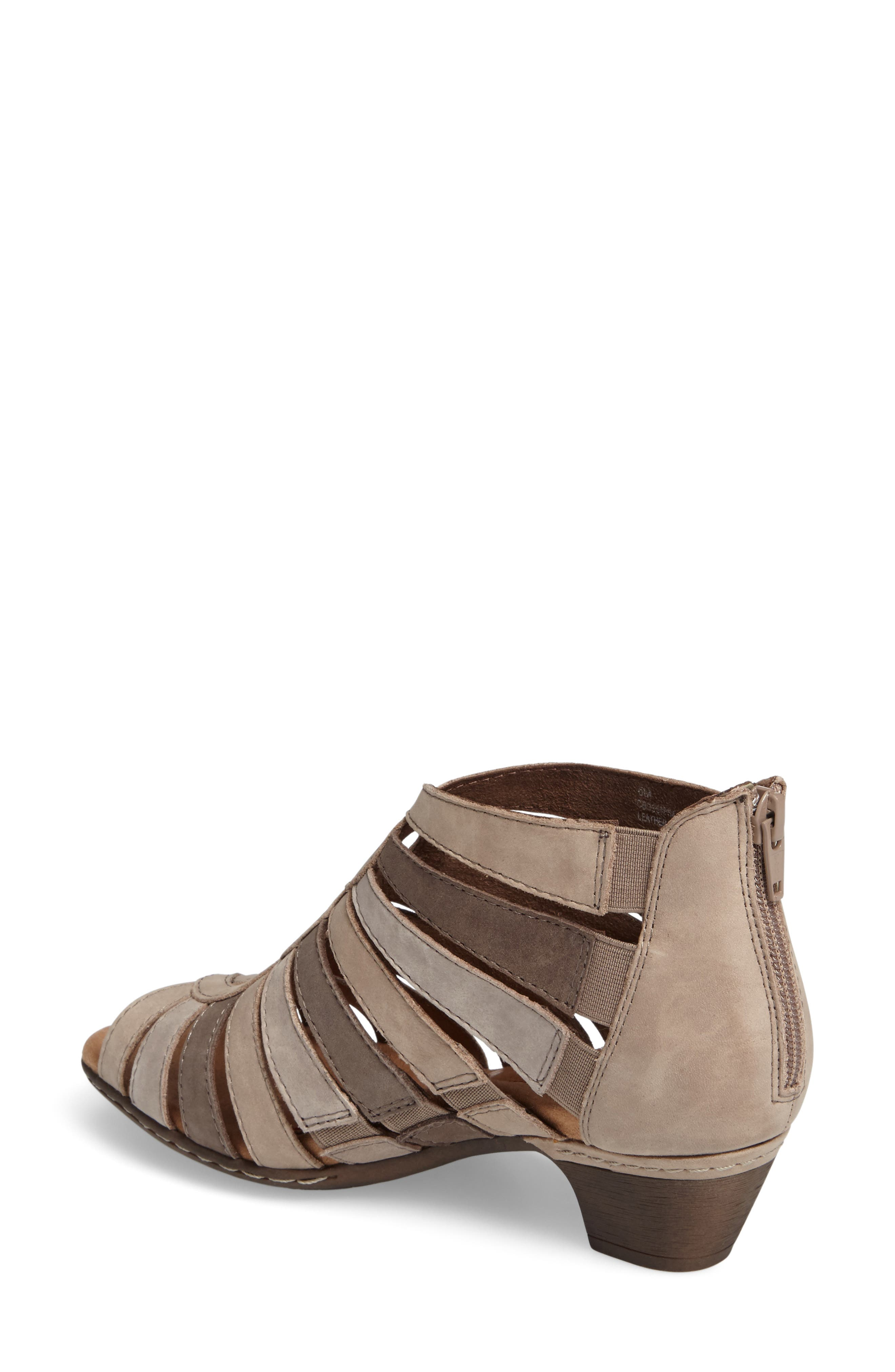 Abbott Caged Sandal,                             Alternate thumbnail 2, color,                             Light Khaki Multi Leather