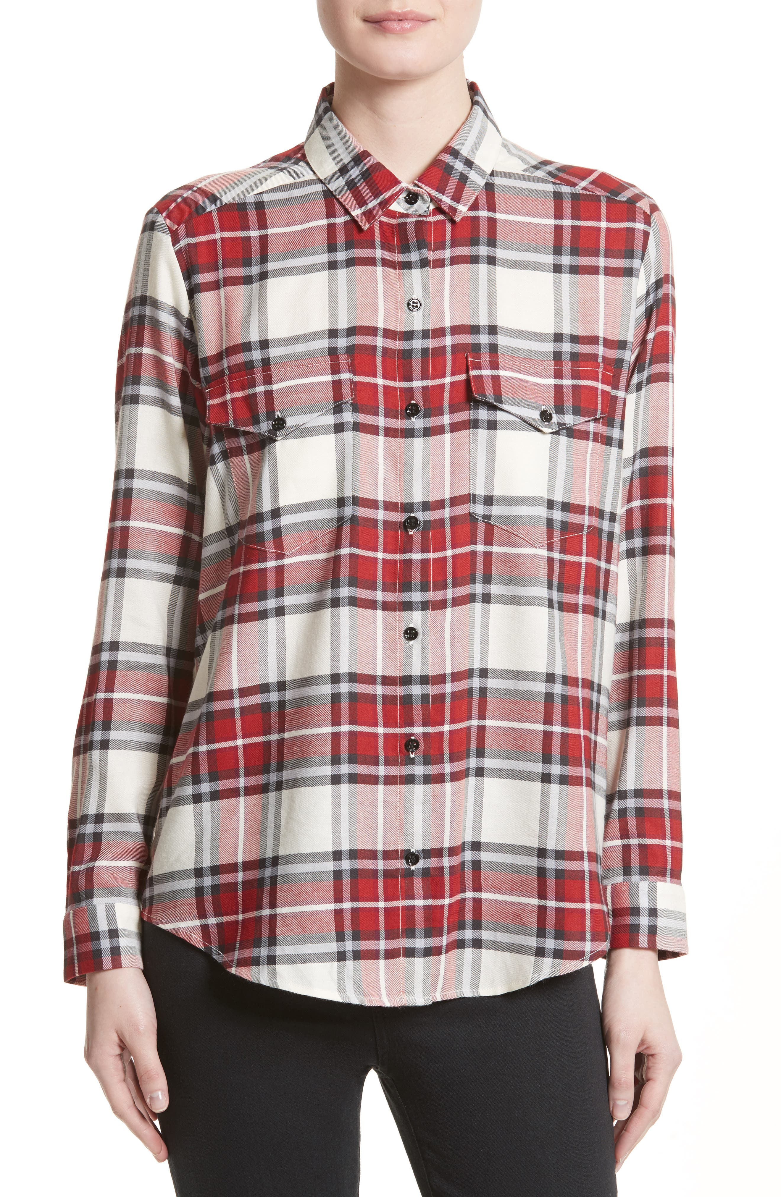 Alternate Image 1 Selected - The Kooples Plaid Flannel Shirt