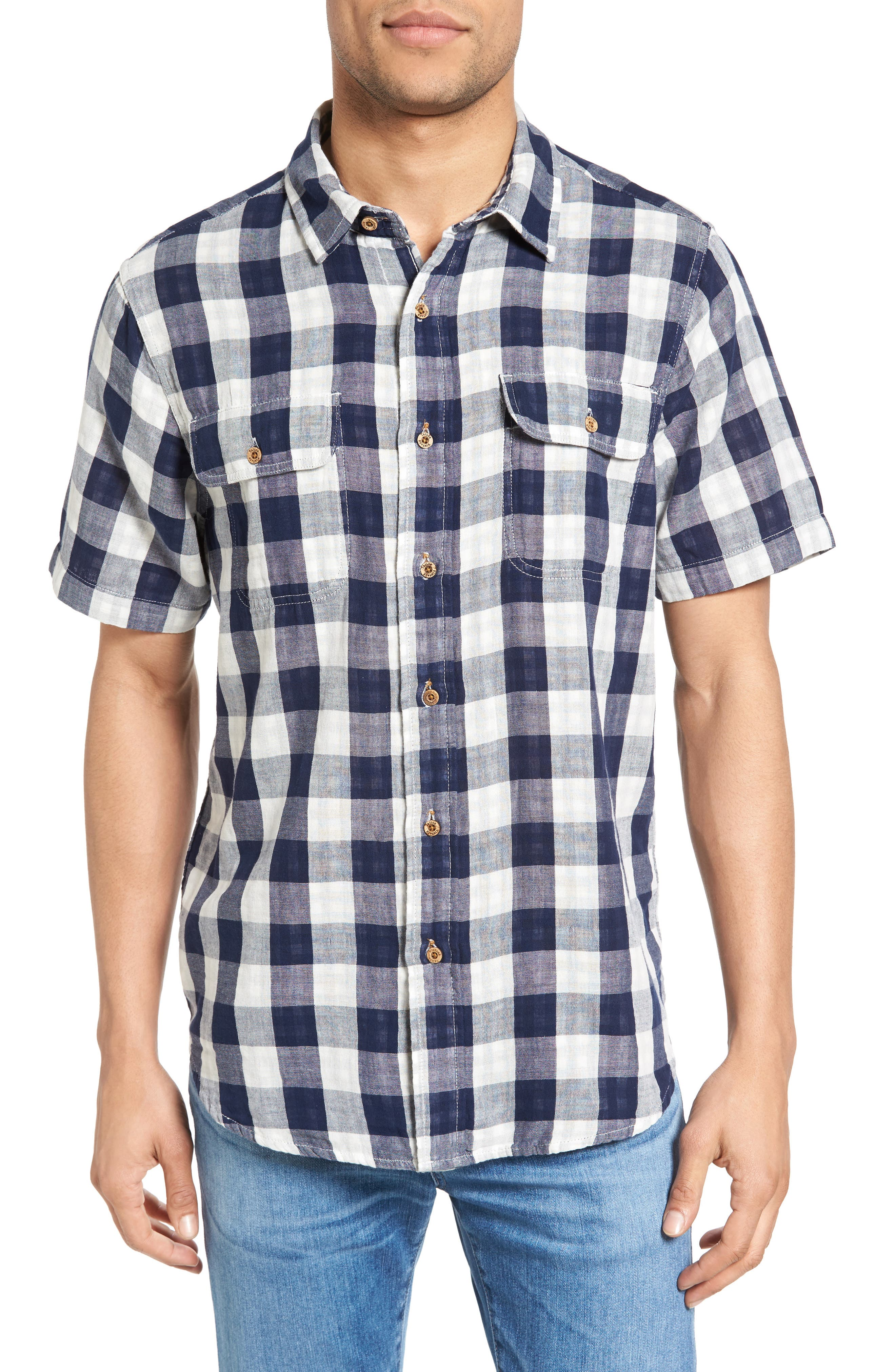 Alternate Image 1 Selected - Tailor Vintage Buffalo Plaid Sport Shirt