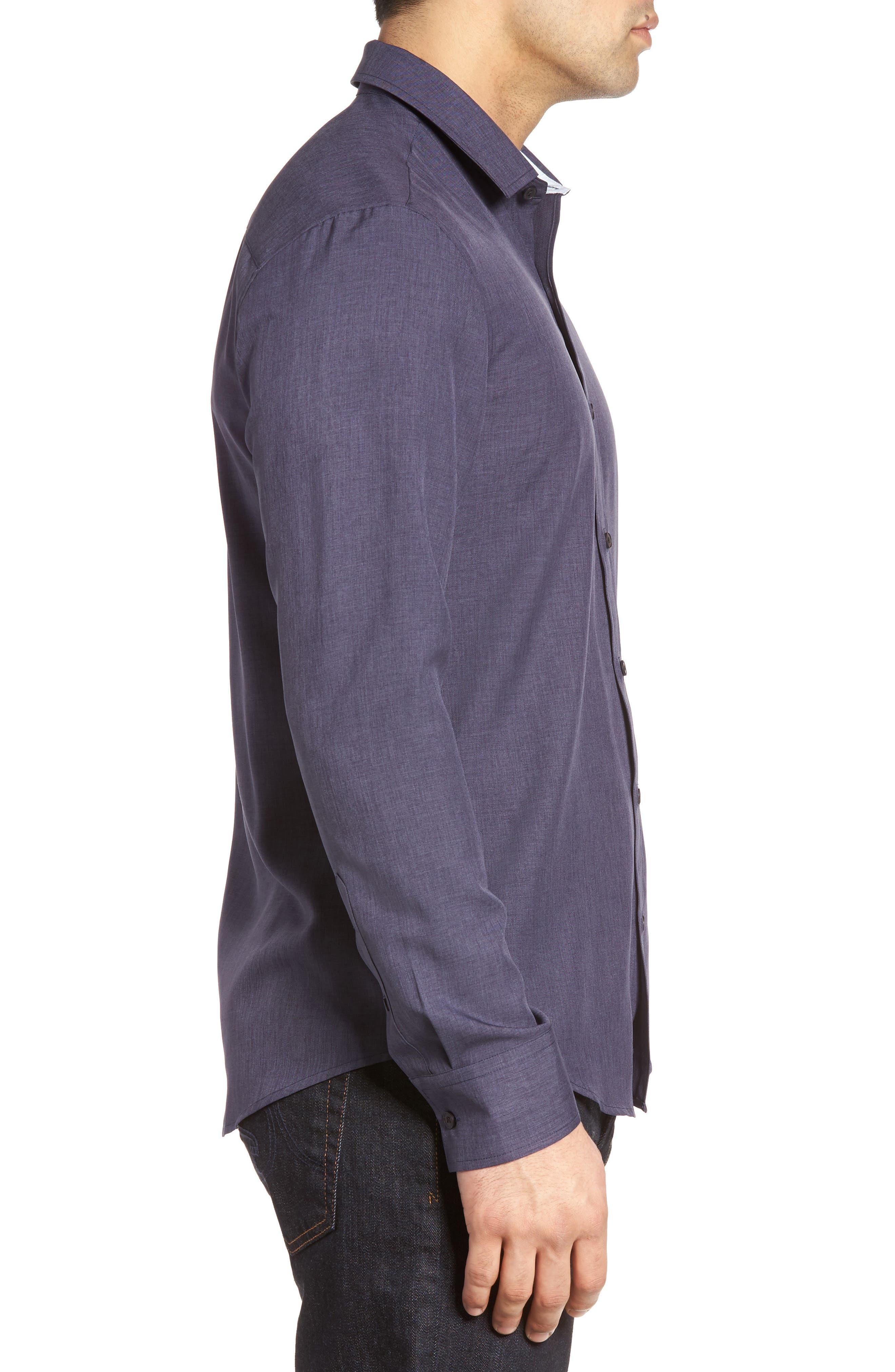 Alternate Image 3  - Vince Camuto Trim Fit Sport Shirt