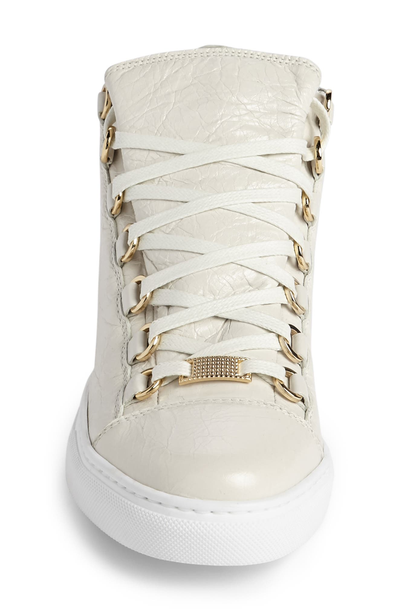 High Top Sneaker,                             Alternate thumbnail 3, color,                             Ivory