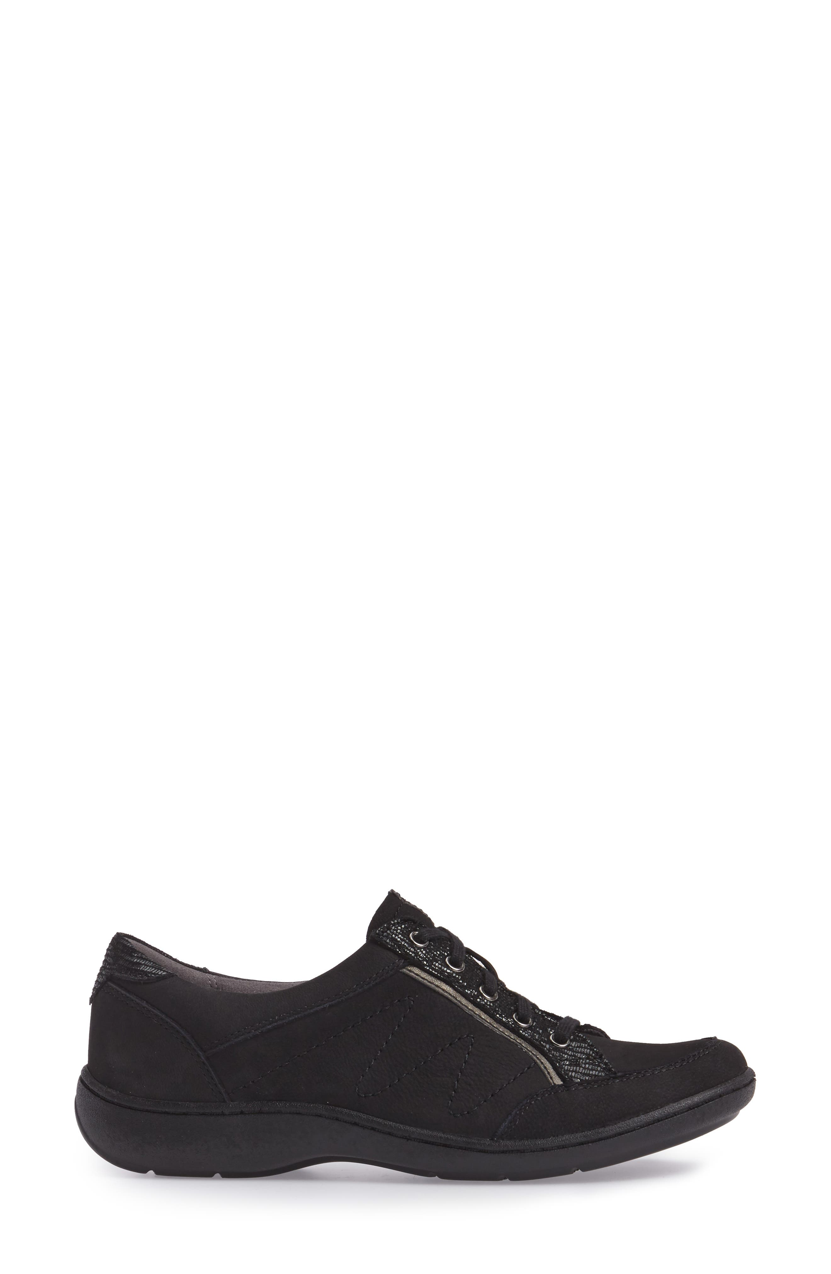 Bromly Sneaker,                             Alternate thumbnail 3, color,                             Black Fabric