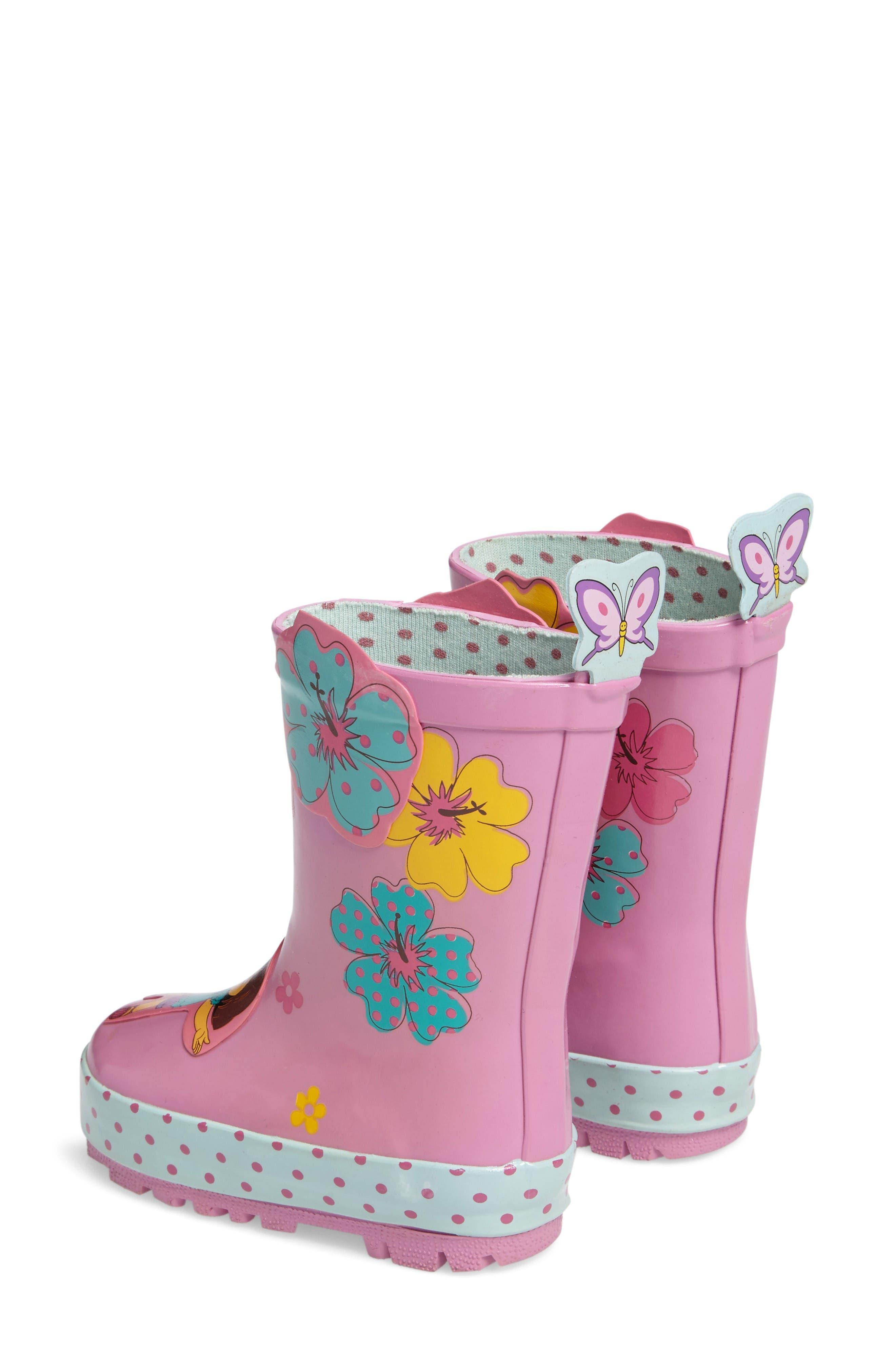 Dora the Explorer Rain Boot,                             Alternate thumbnail 3, color,                             Purple