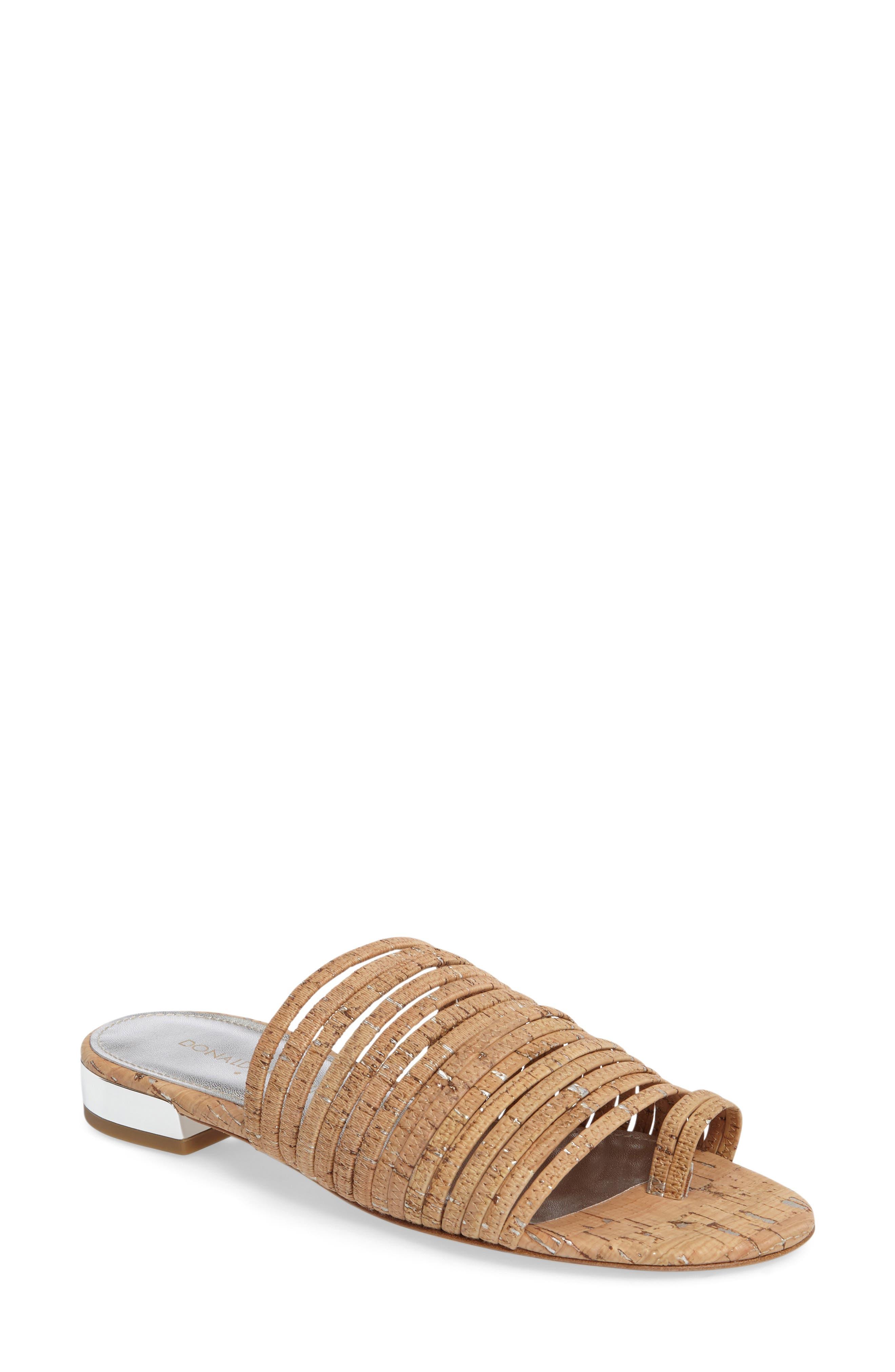Frea Strappy Sandal,                         Main,                         color, Natural Cork