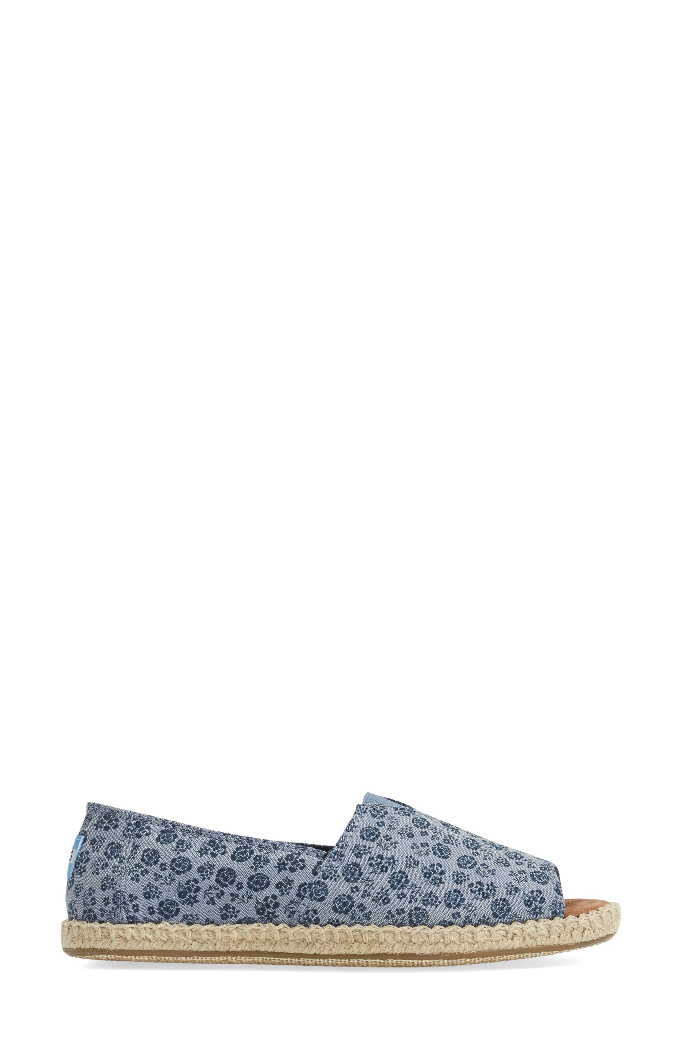 Alternate Image 3  - TOMS Open Toe Espadrille Slip-On (Women)
