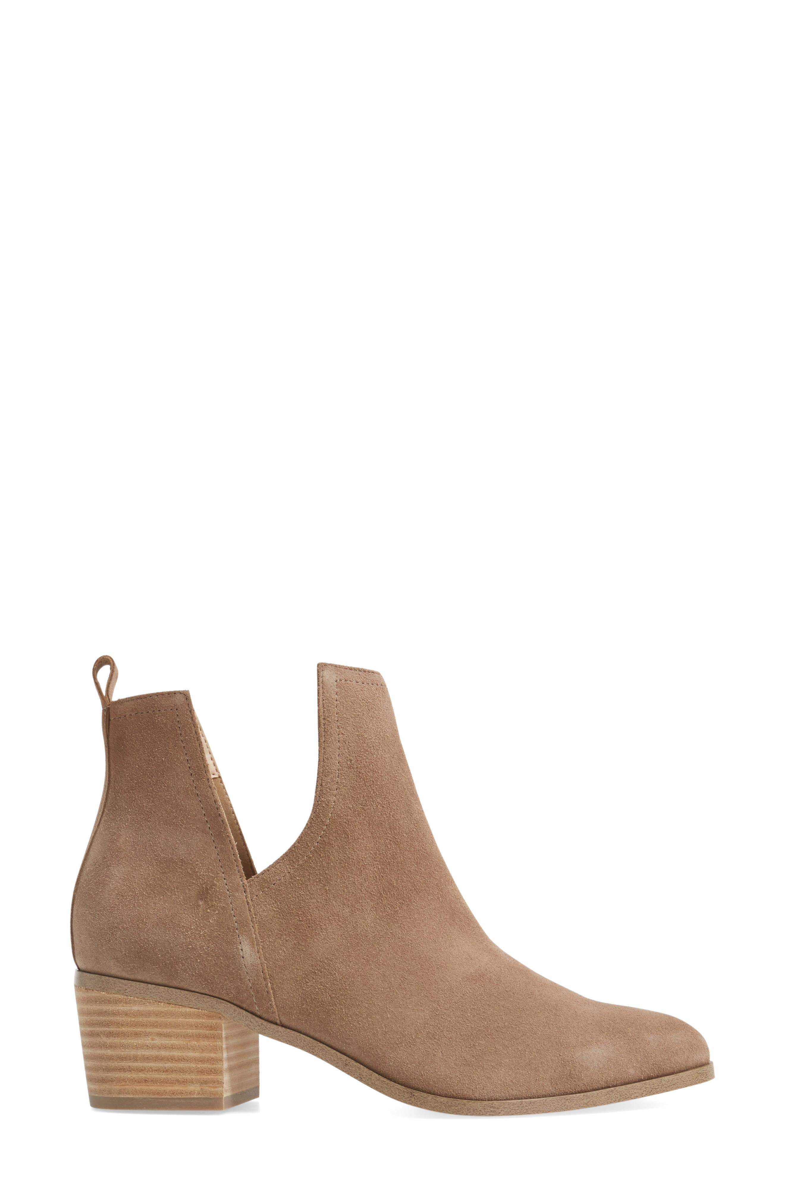 Madrid Bootie,                             Alternate thumbnail 3, color,                             Sand Suede