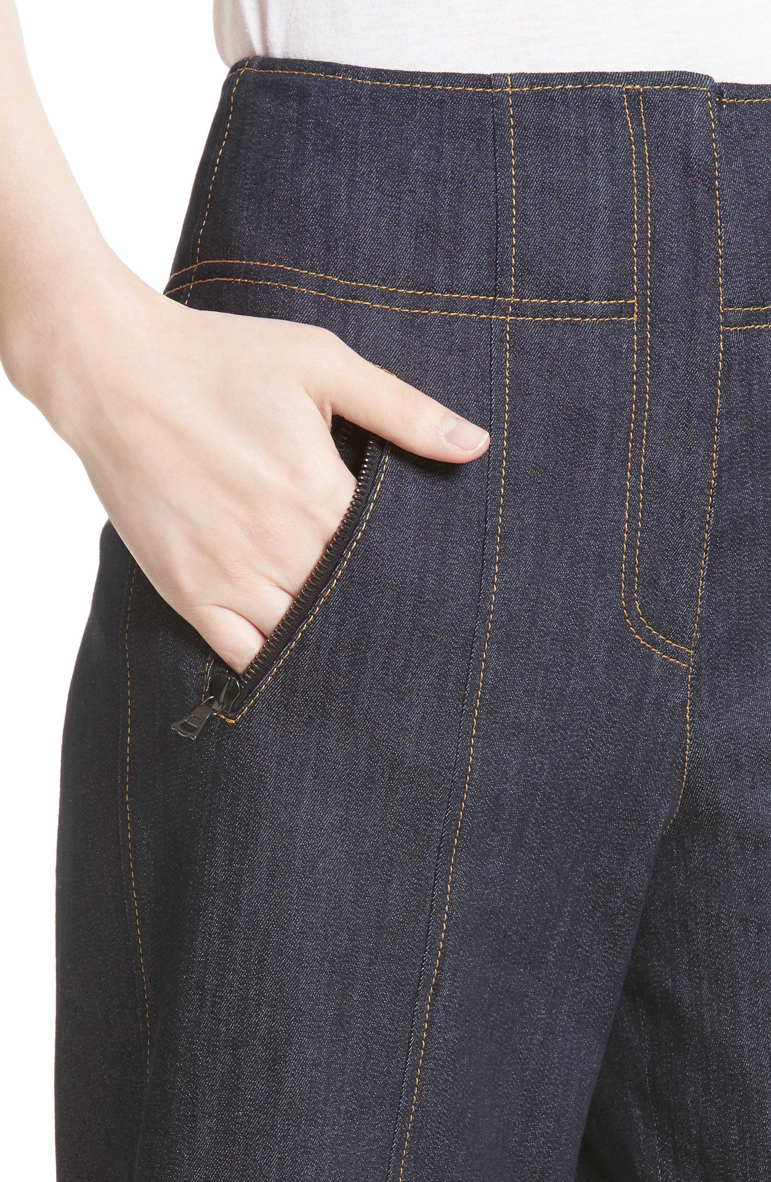 Marla Cuff Jeans,                             Alternate thumbnail 5, color,                             Indigo
