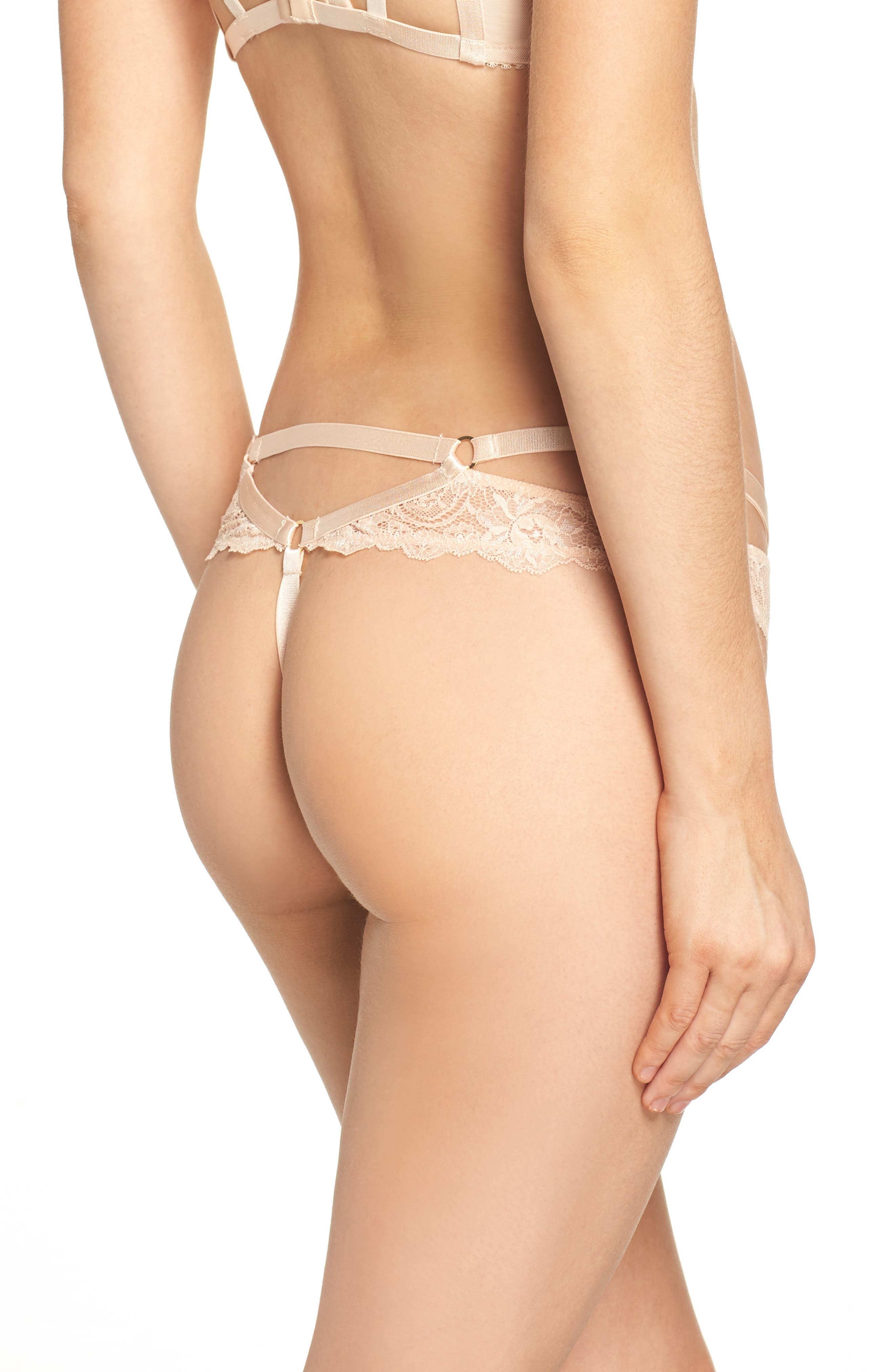 G-String Thong,                             Alternate thumbnail 2, color,                             Creme Caramel