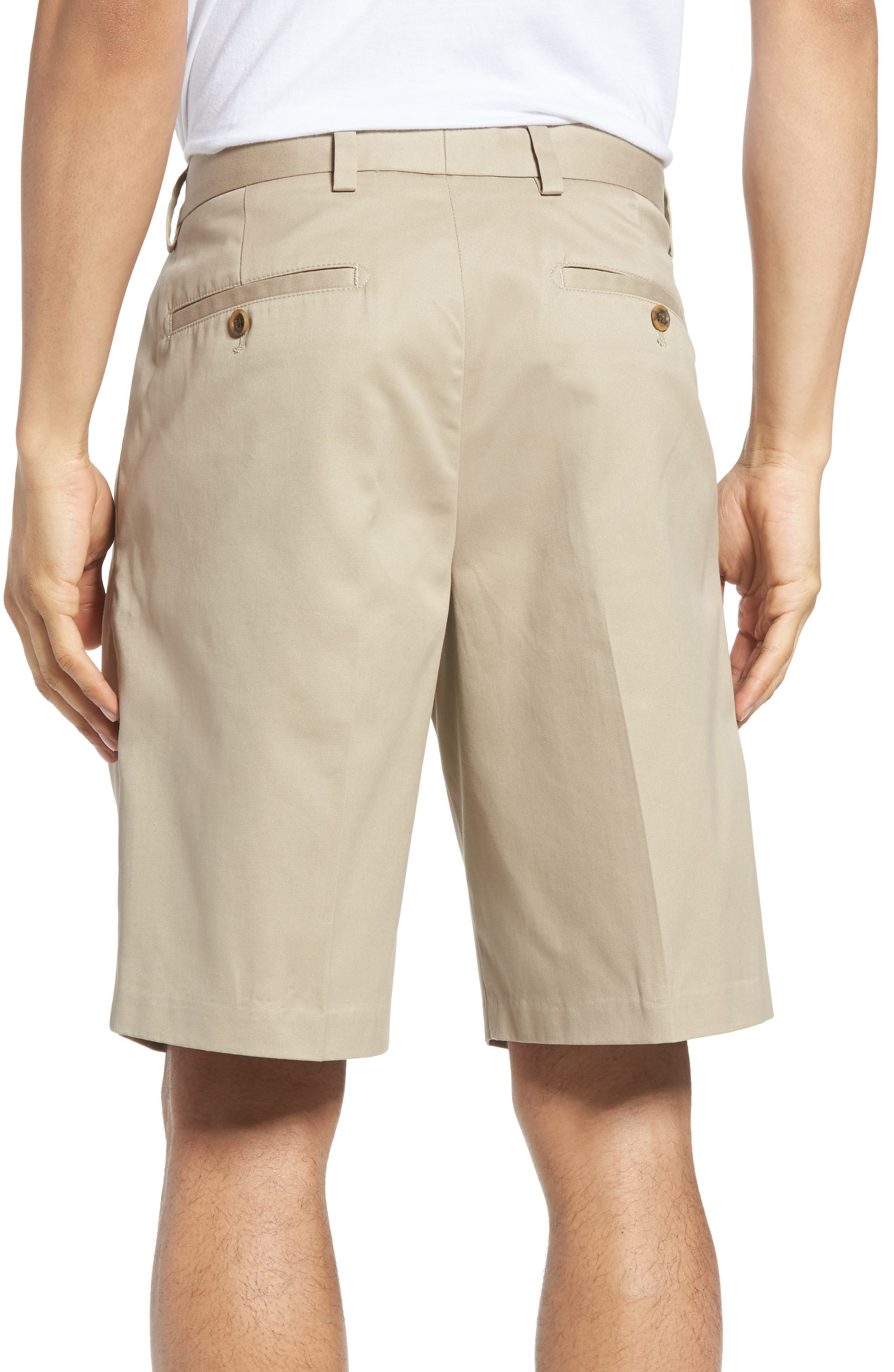 Smartcare<sup>™</sup> Pleated Shorts,                             Alternate thumbnail 2, color,                             Tan