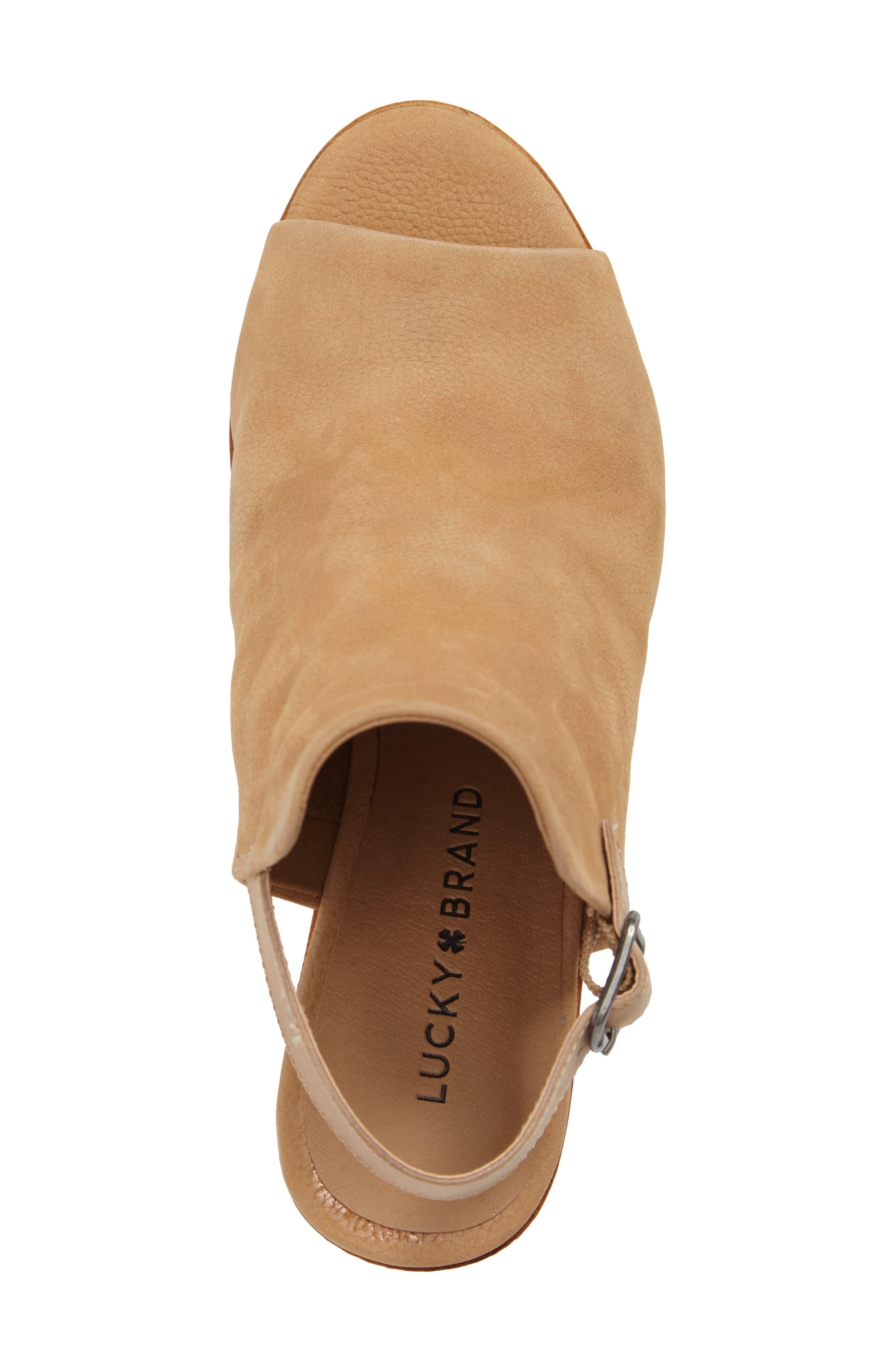 Keralin Wedge Sandal,                             Alternate thumbnail 5, color,                             Glazed Leather