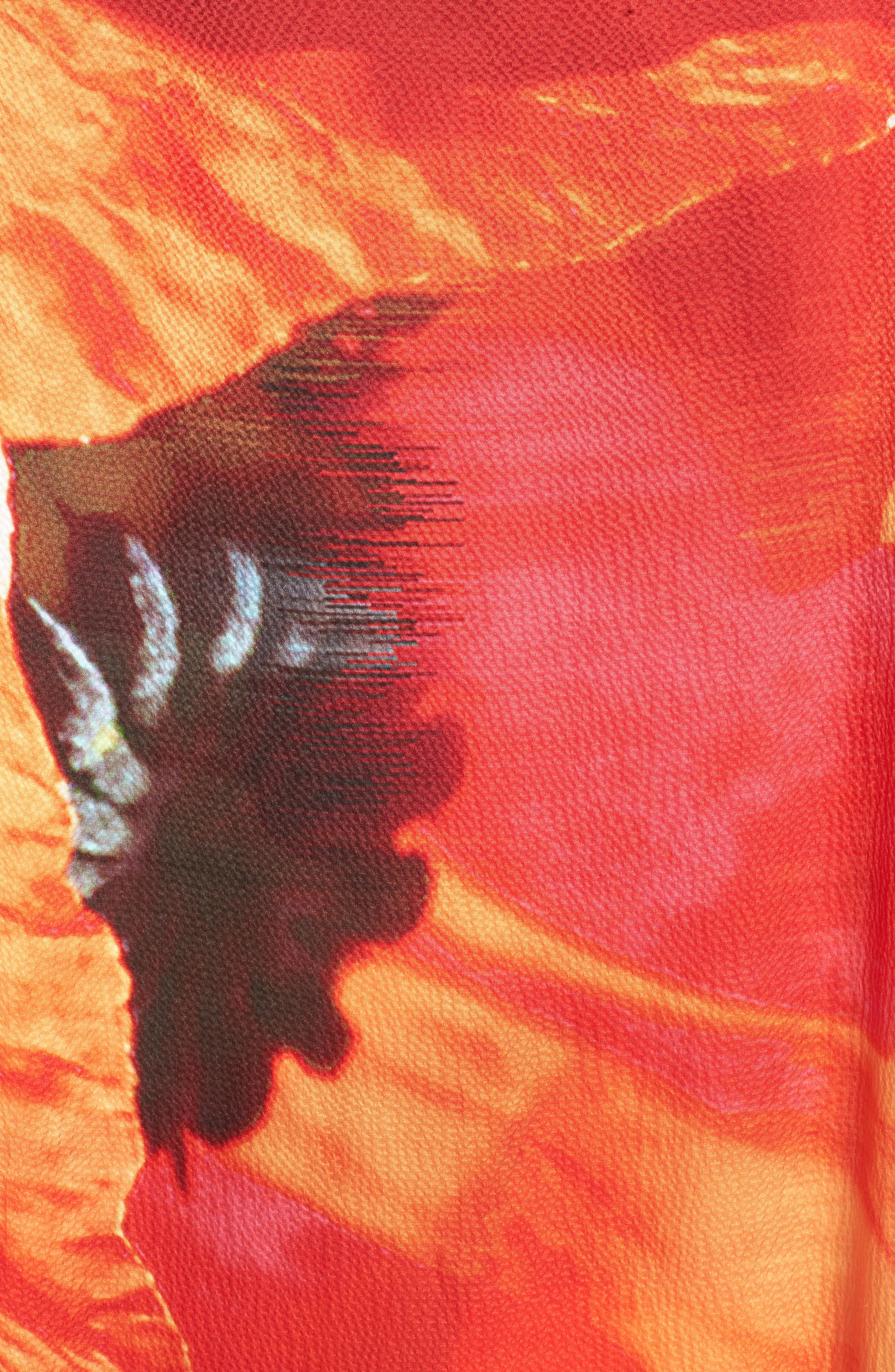 Alternate Image 5  - Ted Baker London Pamm Playful Poppy Silk Cape Scarf