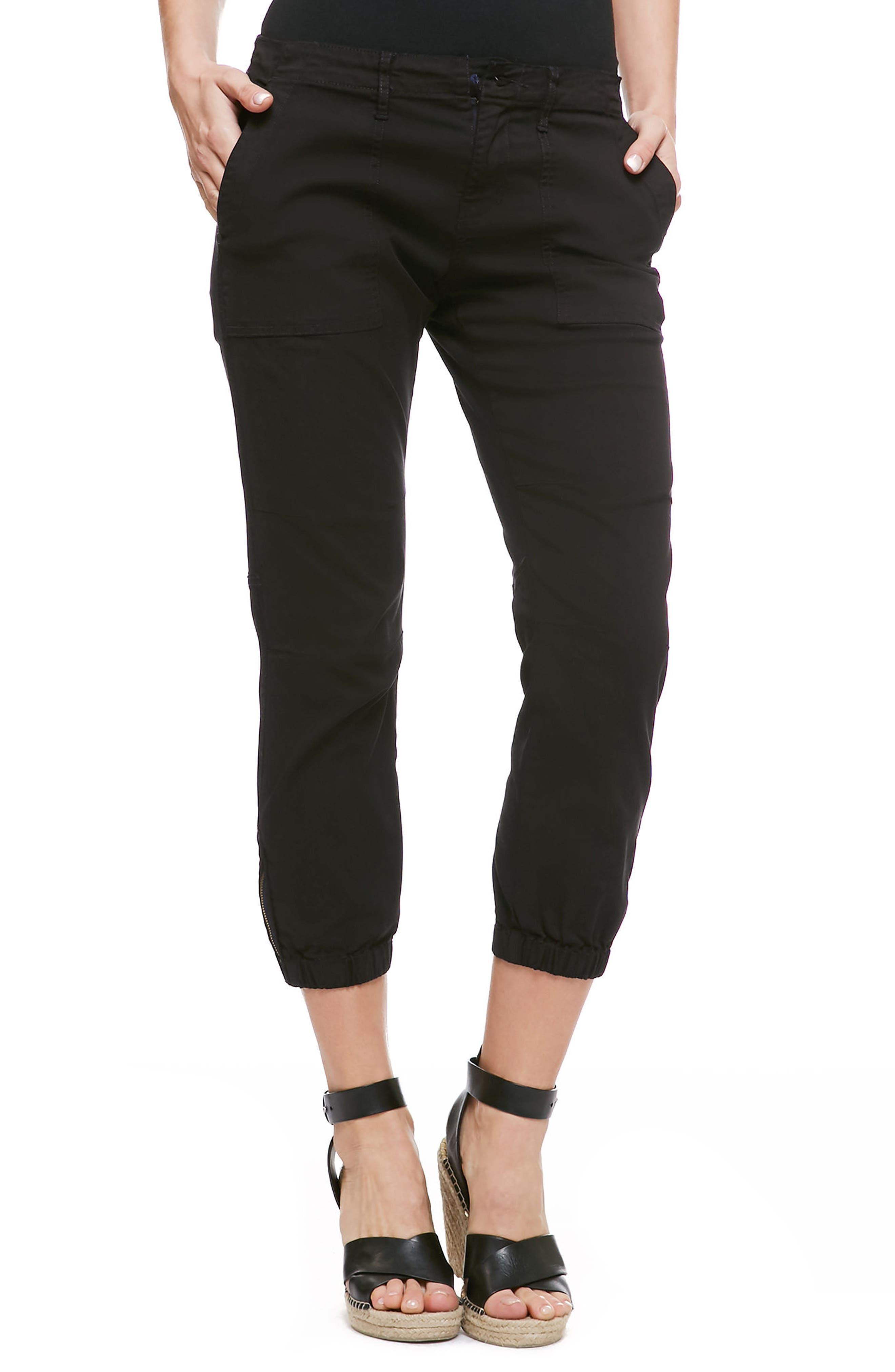 'Peace Trooper' Crop Cargo Pants,                         Main,                         color, Black