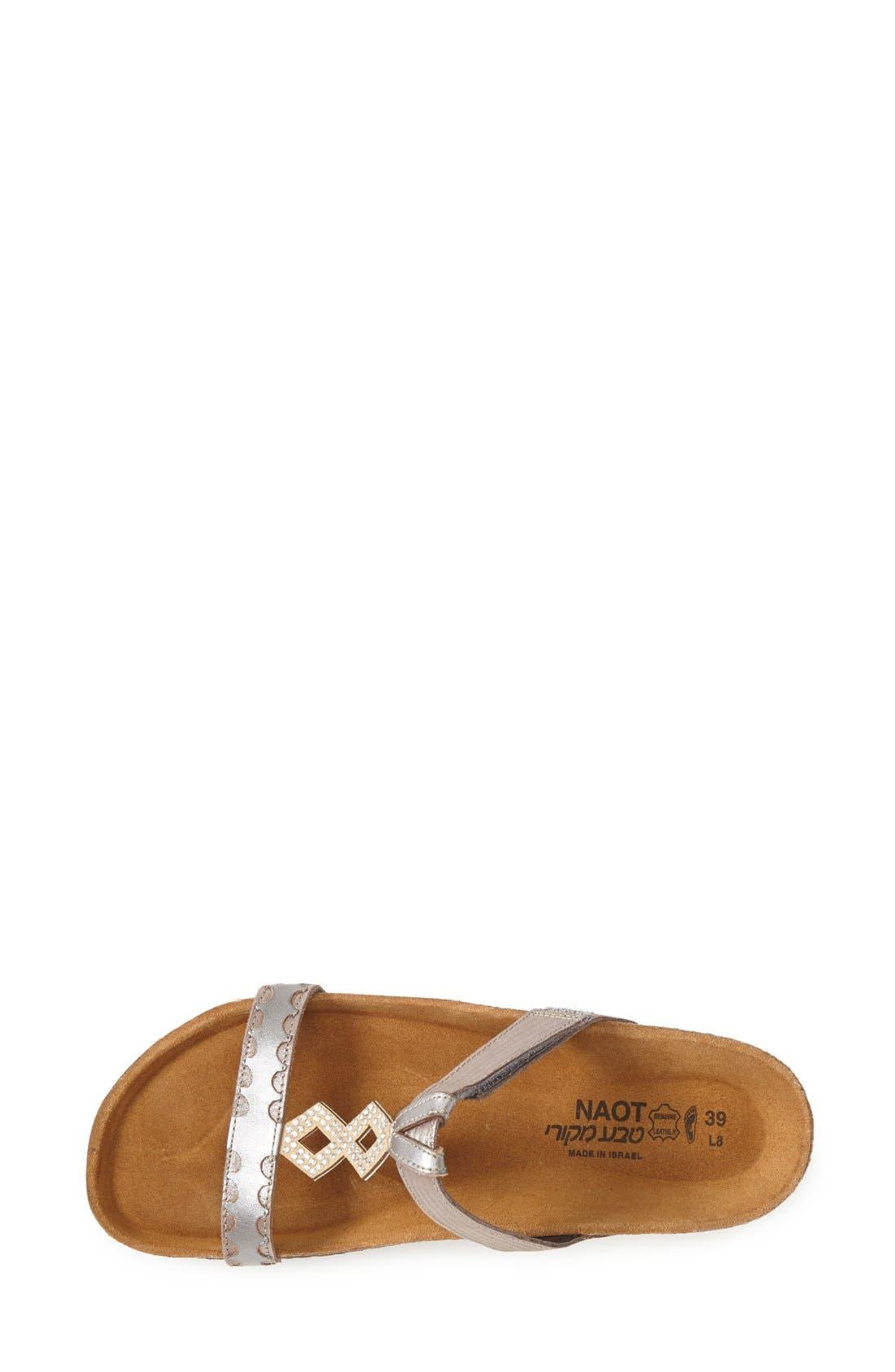 Embellished Walking Sandal,                             Alternate thumbnail 3, color,                             Silver