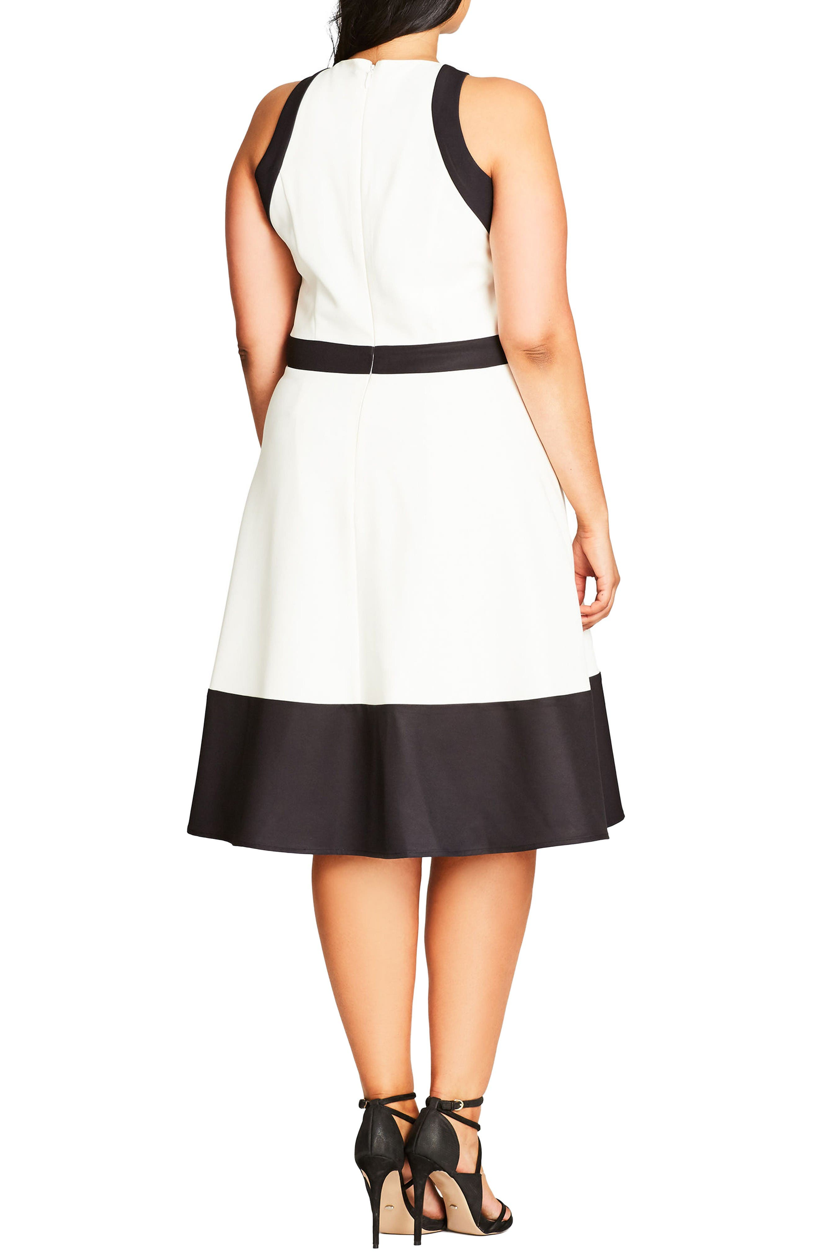 Alternate Image 2  - City Chic Fit & Flare Dress (Plus Size)