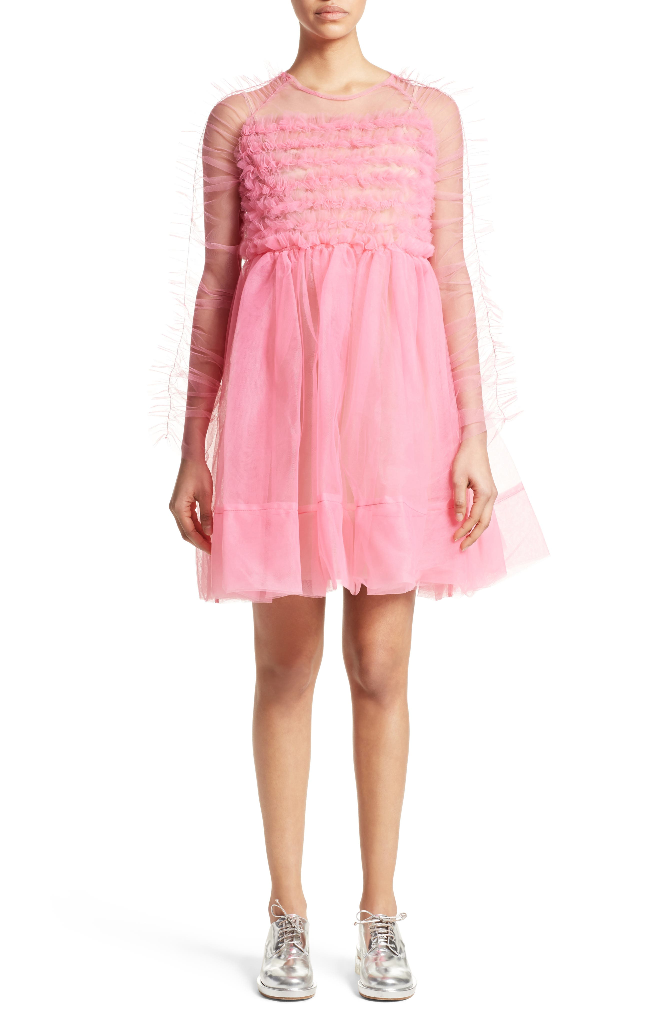 Funky Tulle Dress,                         Main,                         color, Pink