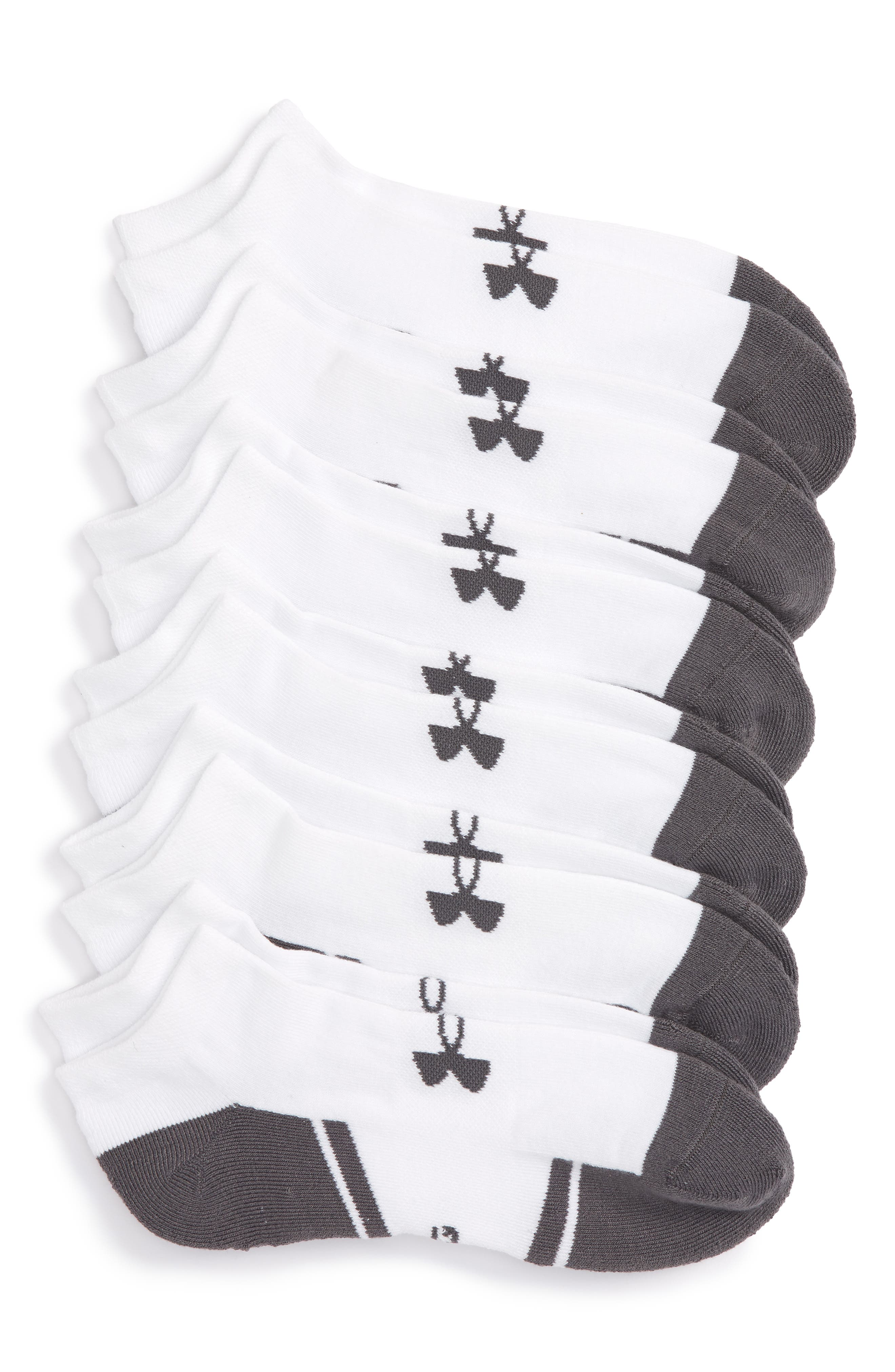 Main Image - Under Armour Resistor 3.0 6-Pack No-Show Socks