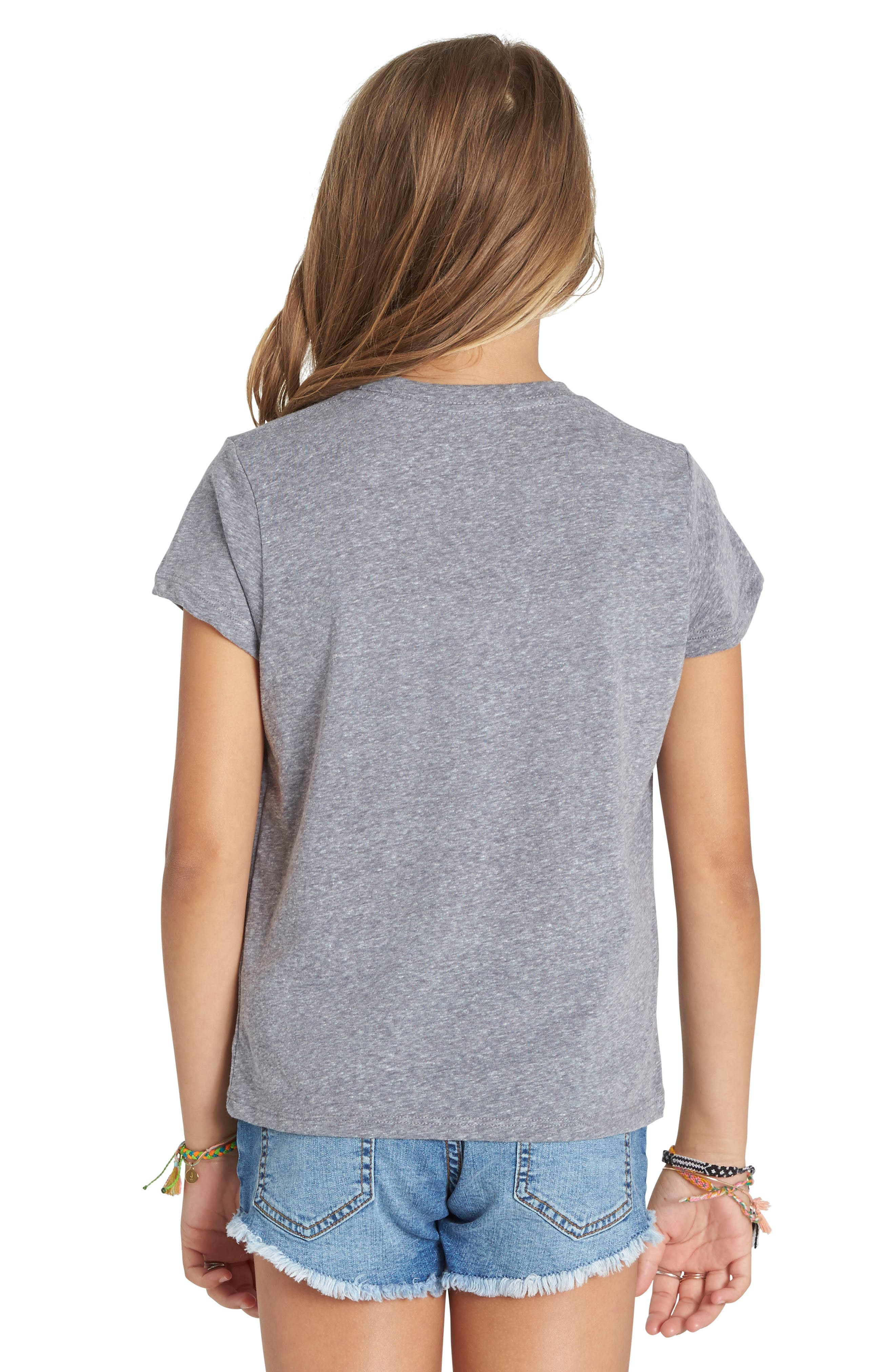 Little Owl Graphic Tee,                             Alternate thumbnail 2, color,                             Dark Athletic Grey