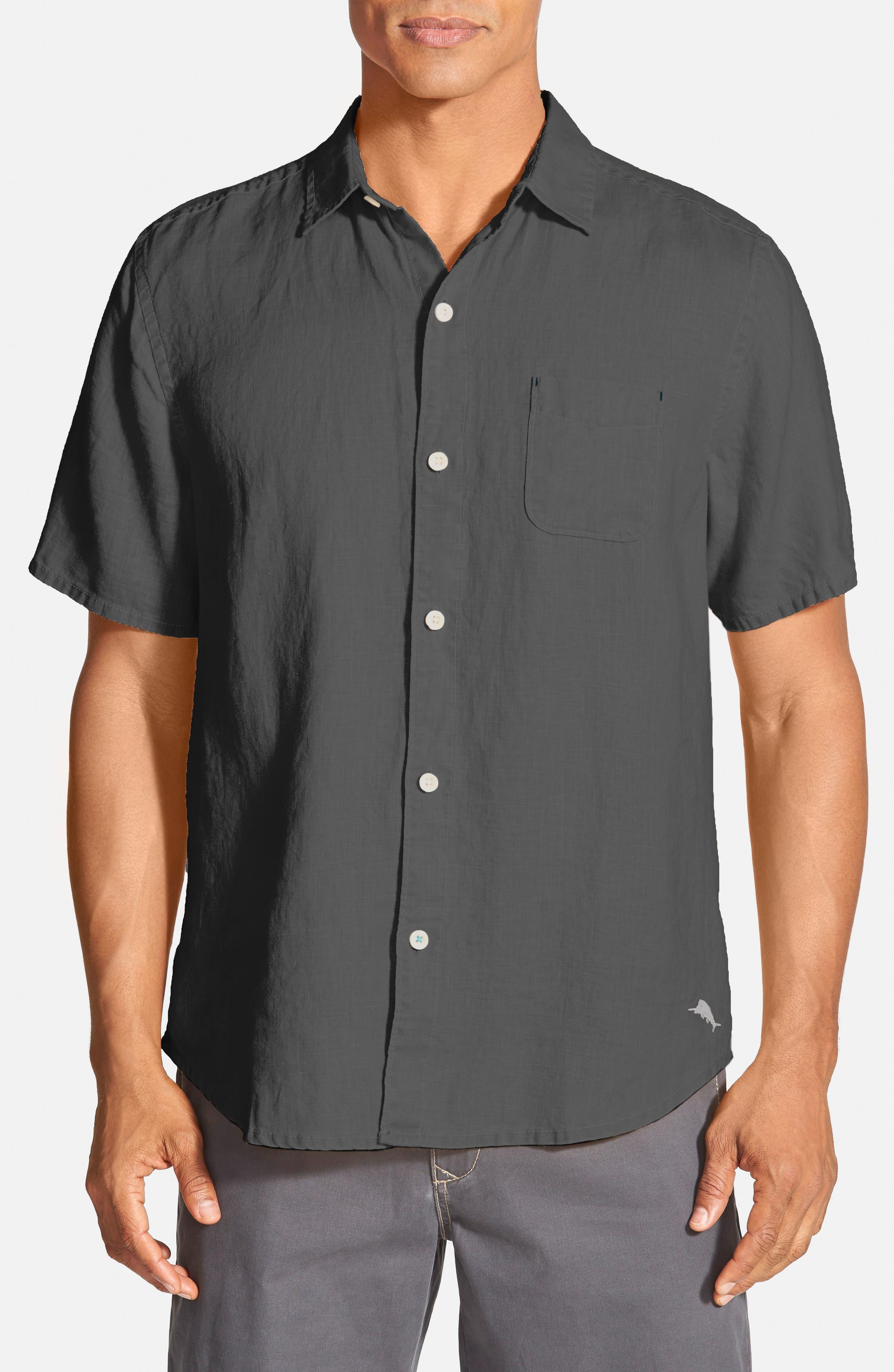 Tommy Bahama 'Seaglass Breezer' Short Sleeve Linen Sport Shirt (Big & Tall)