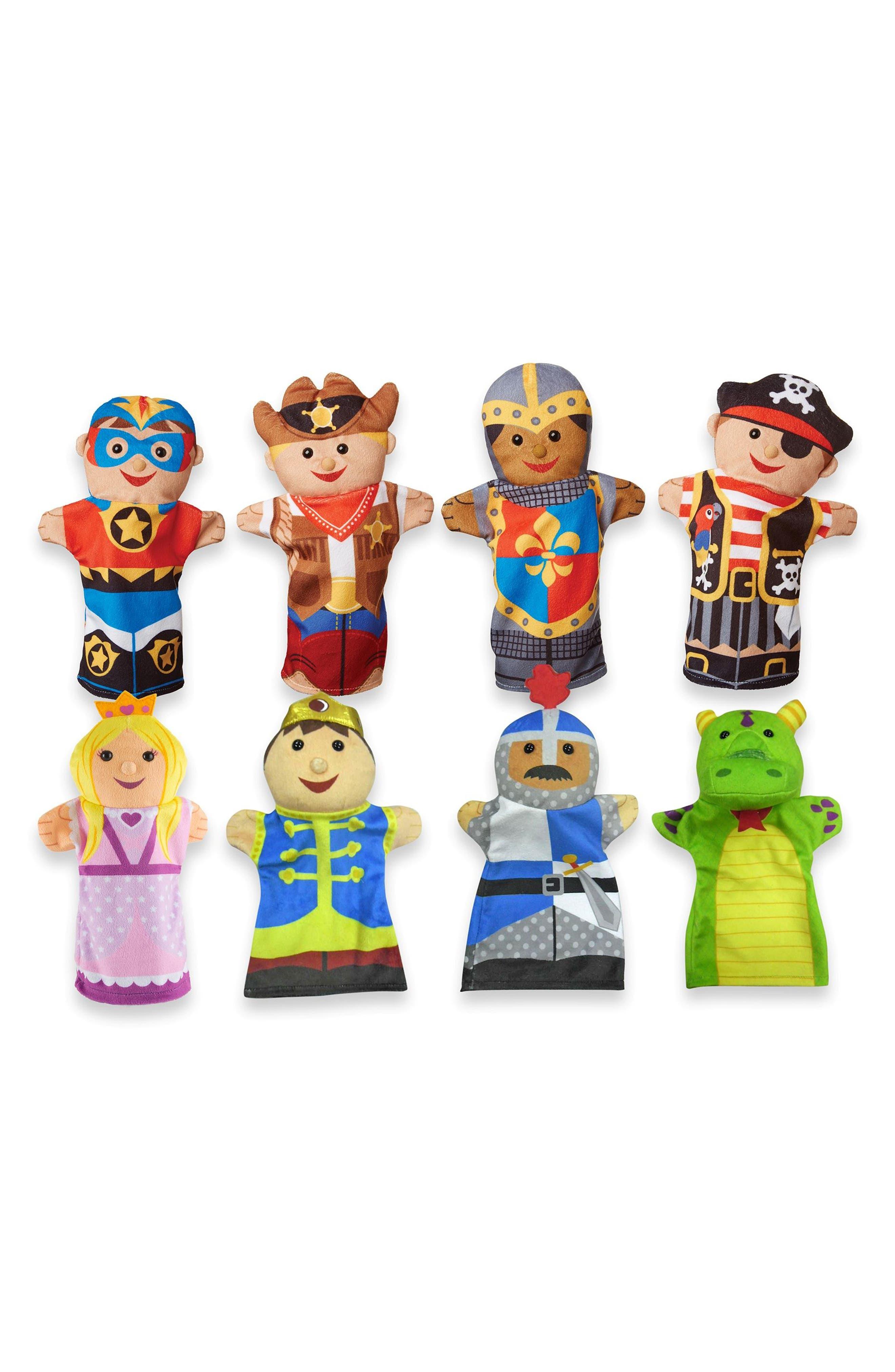 Toy Hand Puppet Set,                             Main thumbnail 1, color,                             Multi