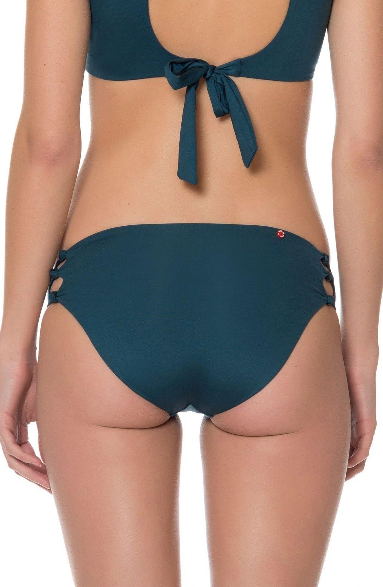 Red Carter Knot Bikini Bottoms