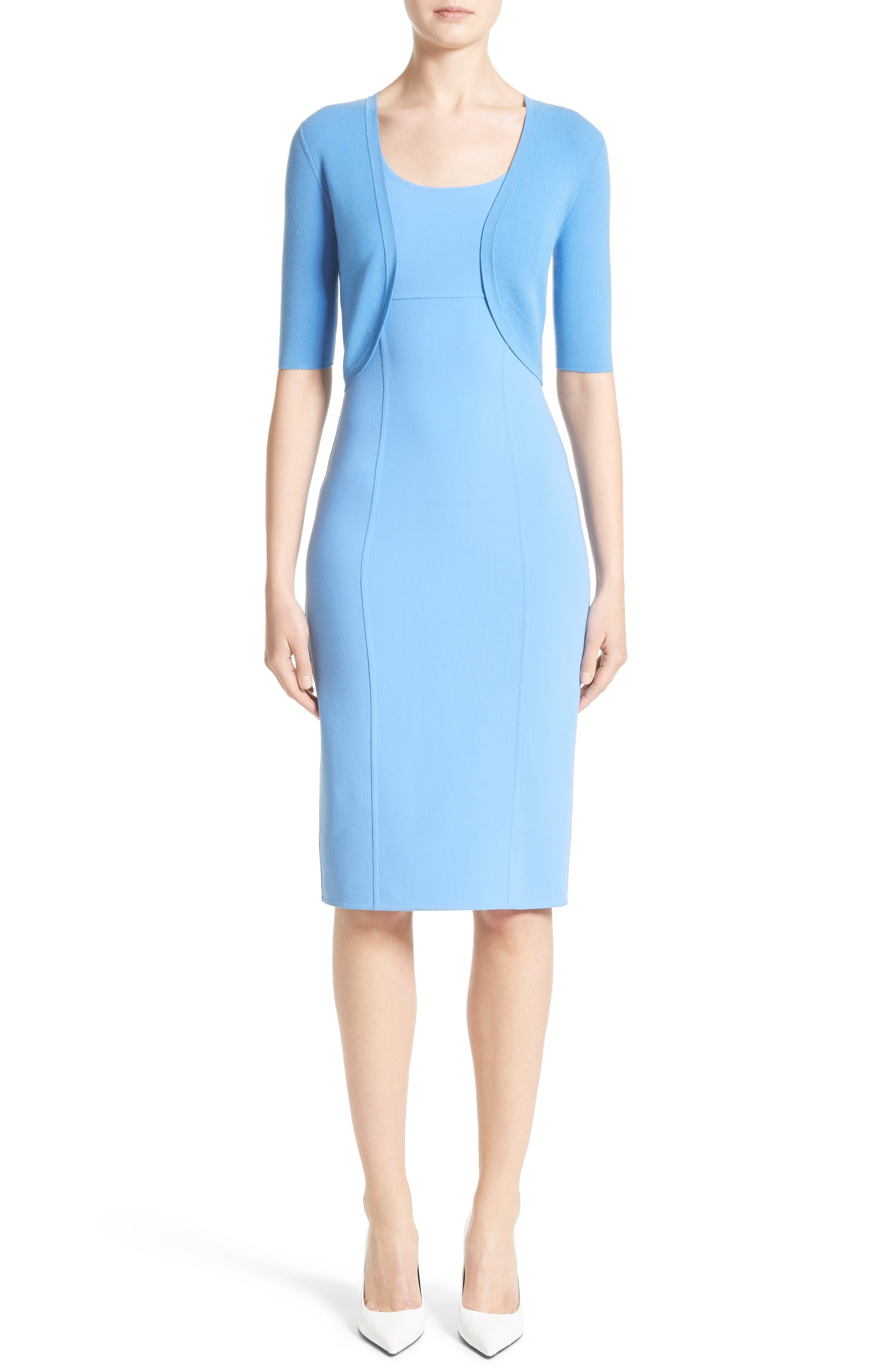 Alternate Image 7  - Michael Kors Stretch Wool Crepe Sheath Dress